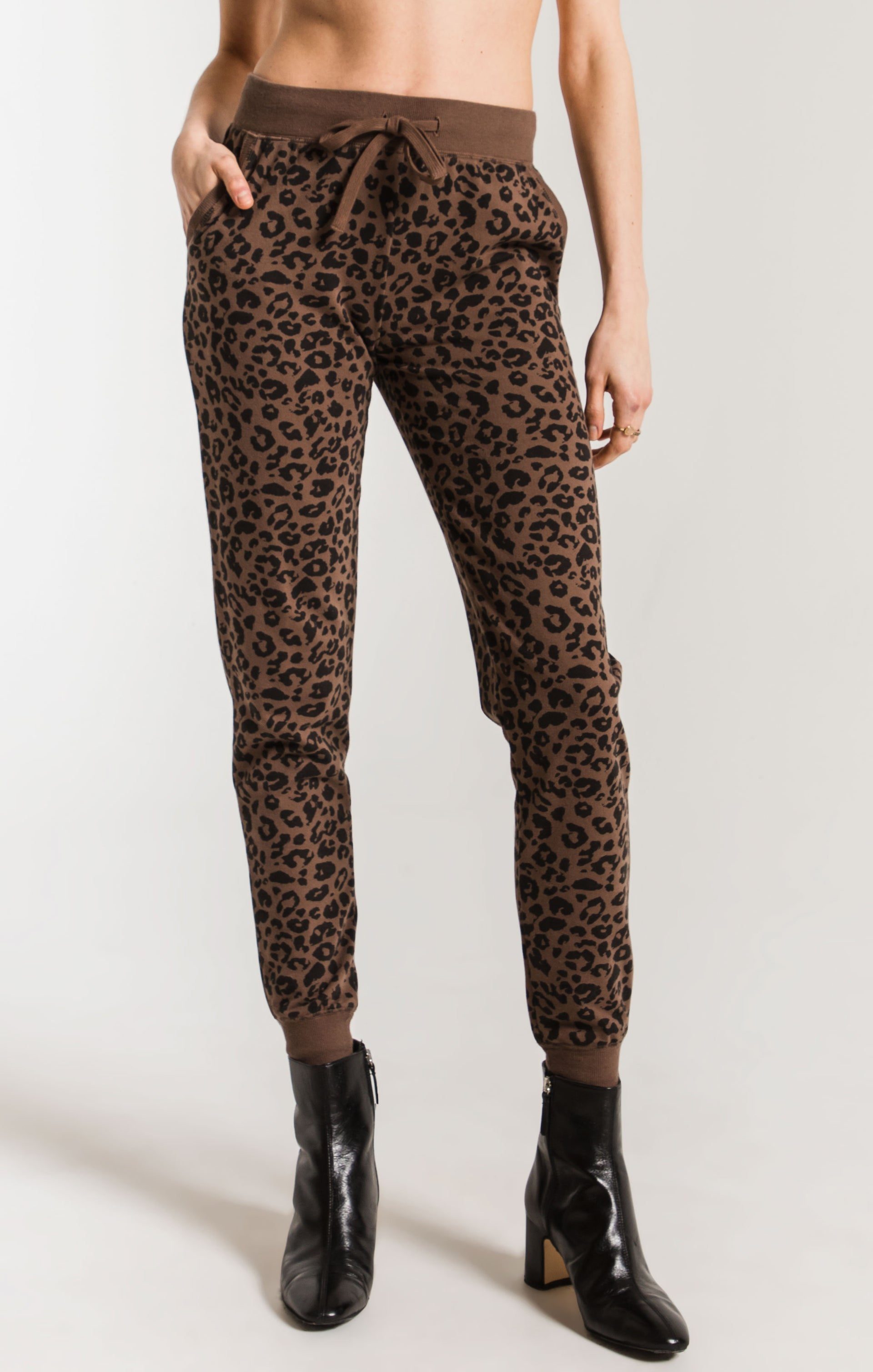 Pants Leopard Jogger French Roast