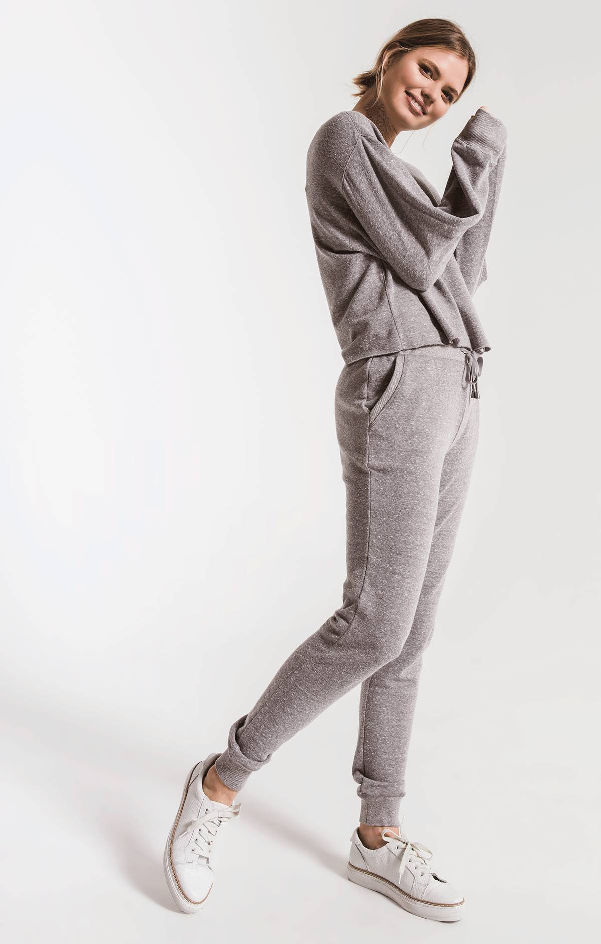 Pants Triblend Courier Jogger Heather Grey