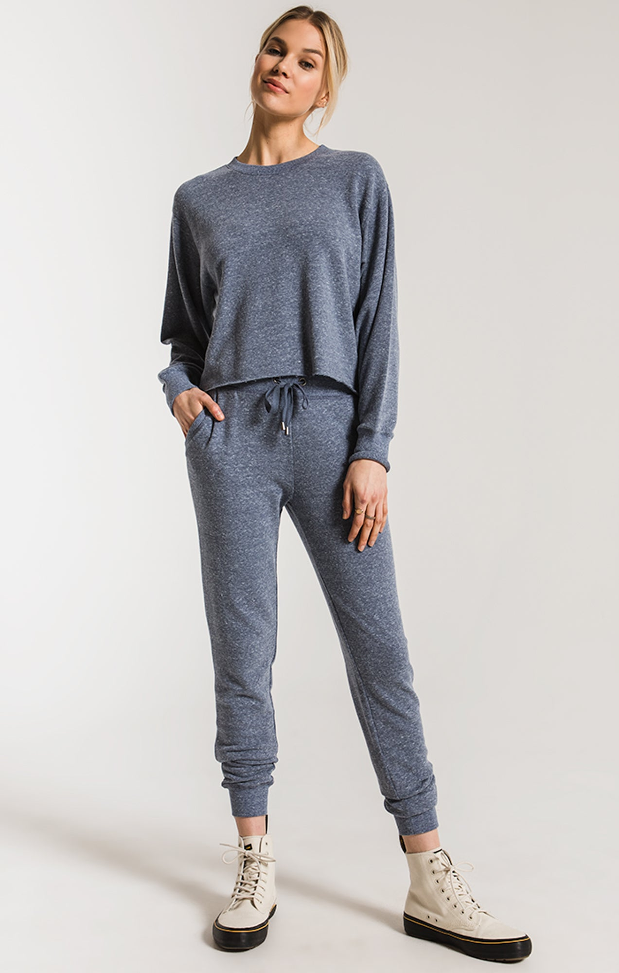 Pants Triblend Courier Jogger Black Iris