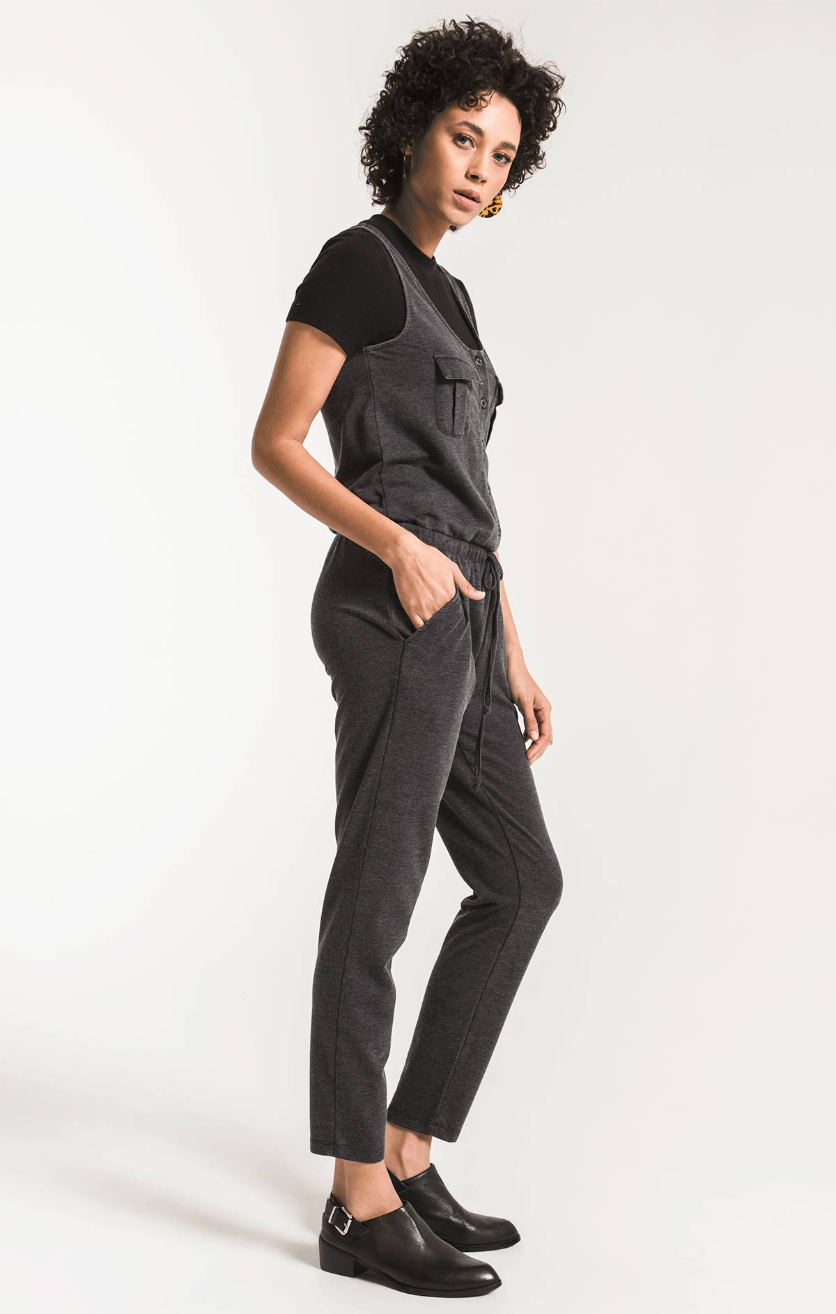Pants Utility Jumpsuit Black