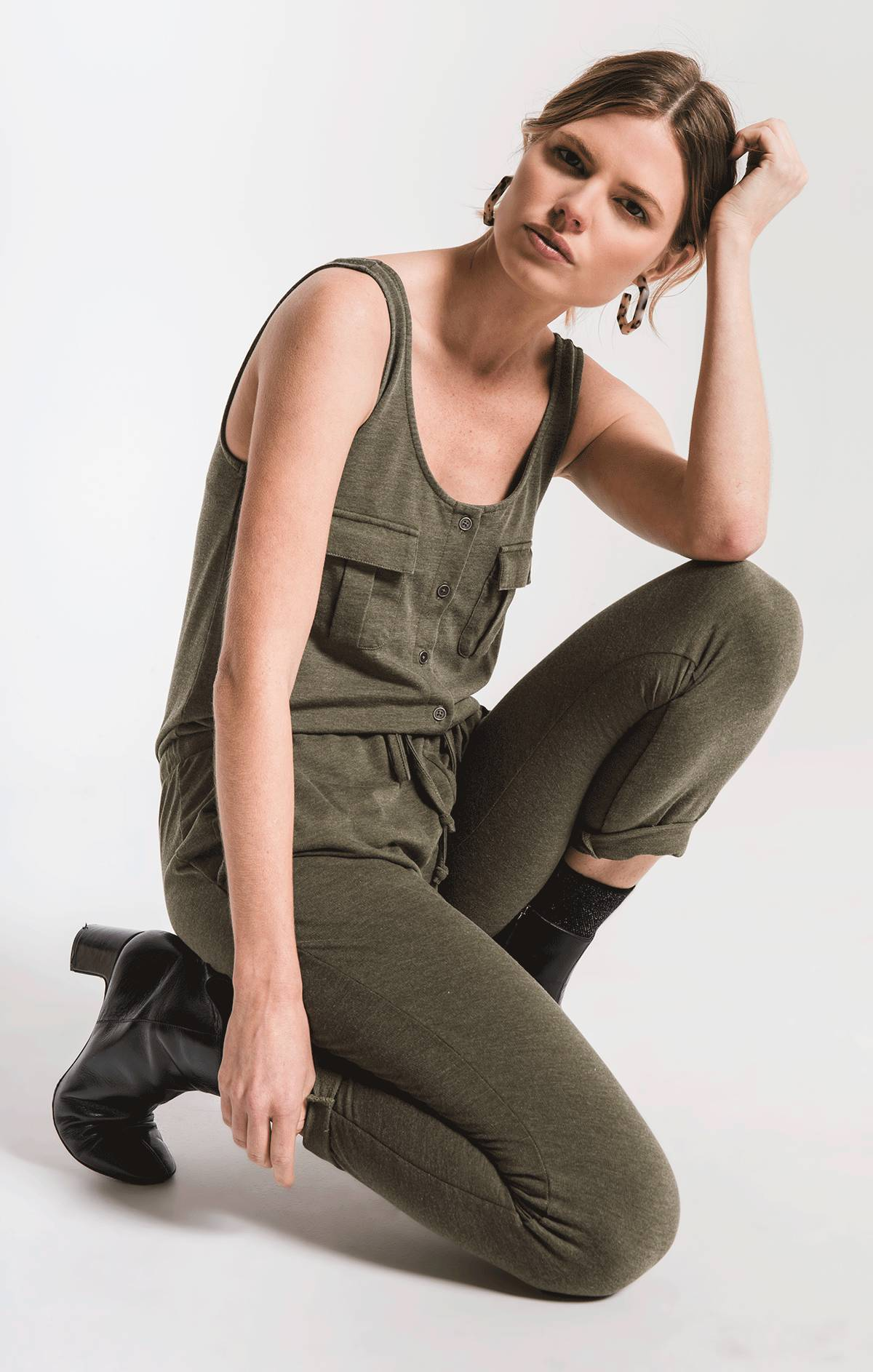 Pants Utility Jumpsuit Rosin