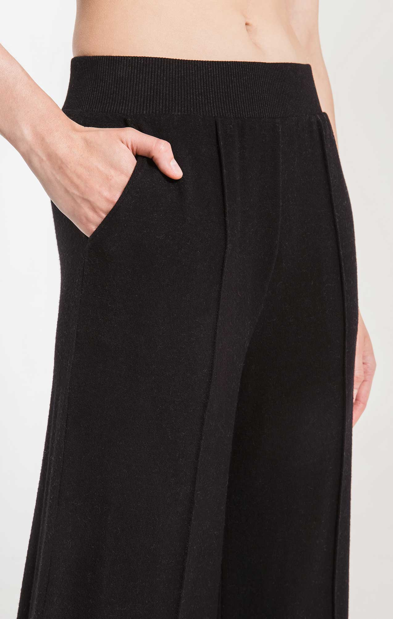 Pants The Marled Wide Leg Pant Black