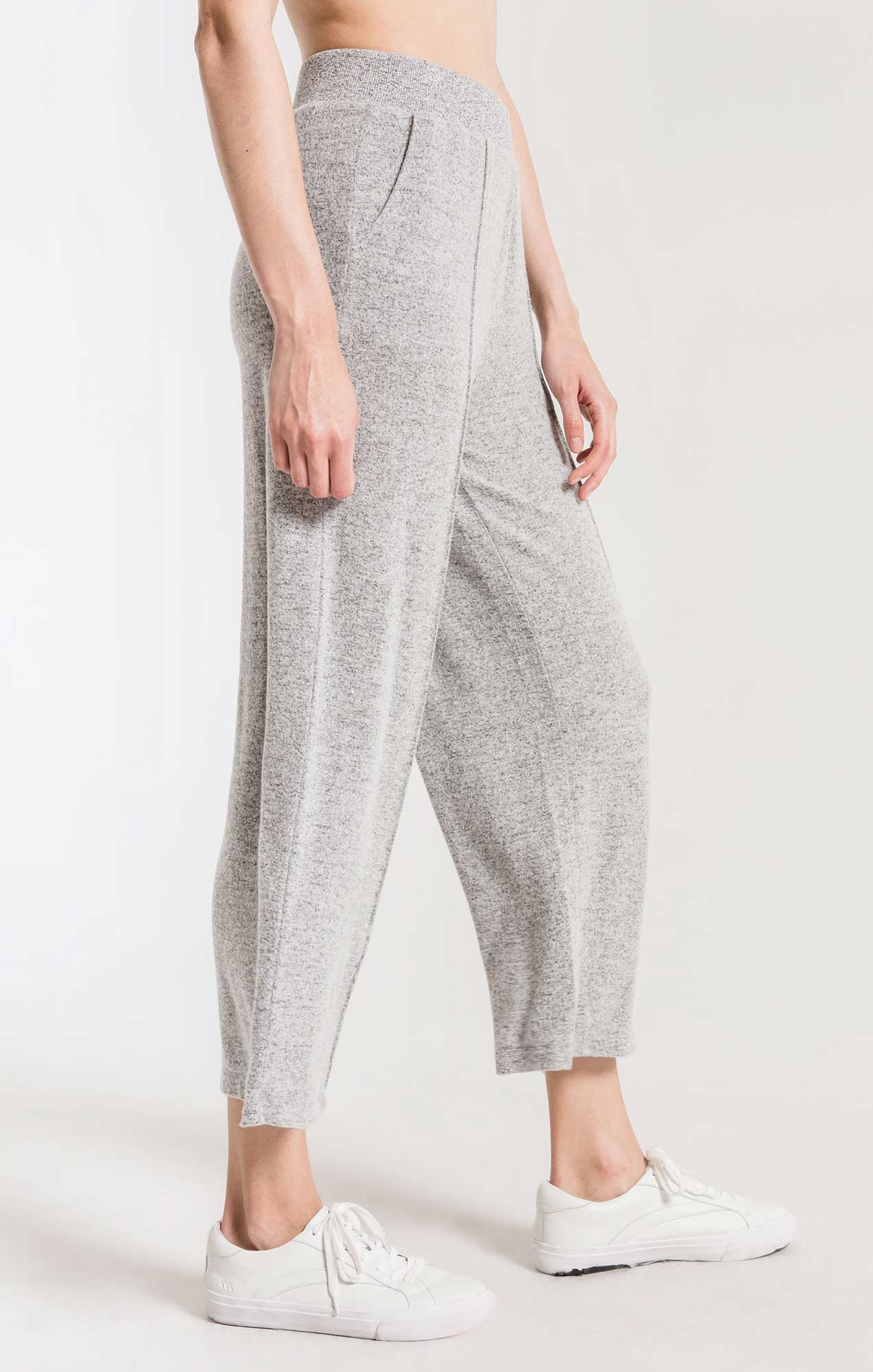 Pants The Marled Wide Leg Pant Heather Grey