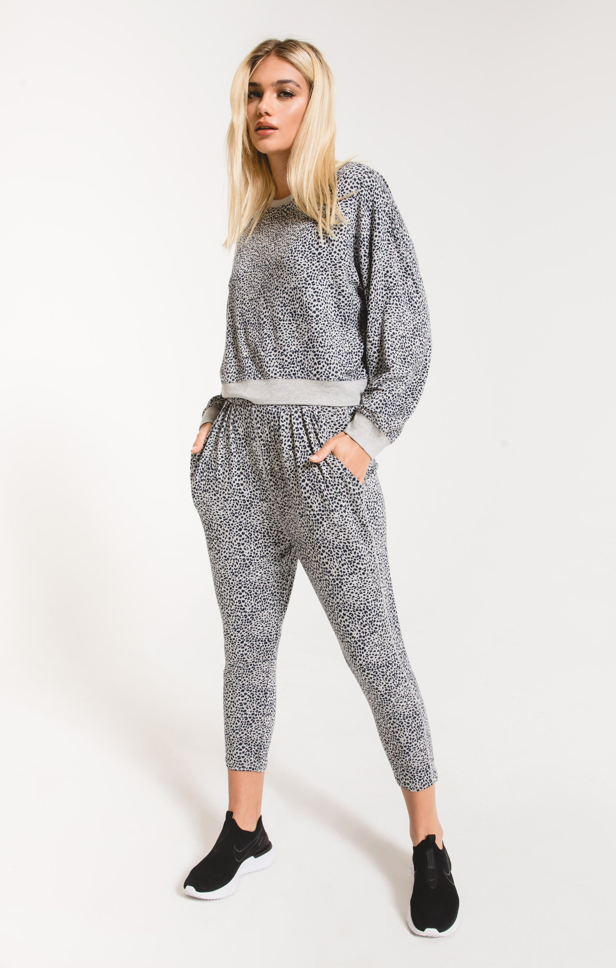 Pants Mini Leopard Pant Heather Grey
