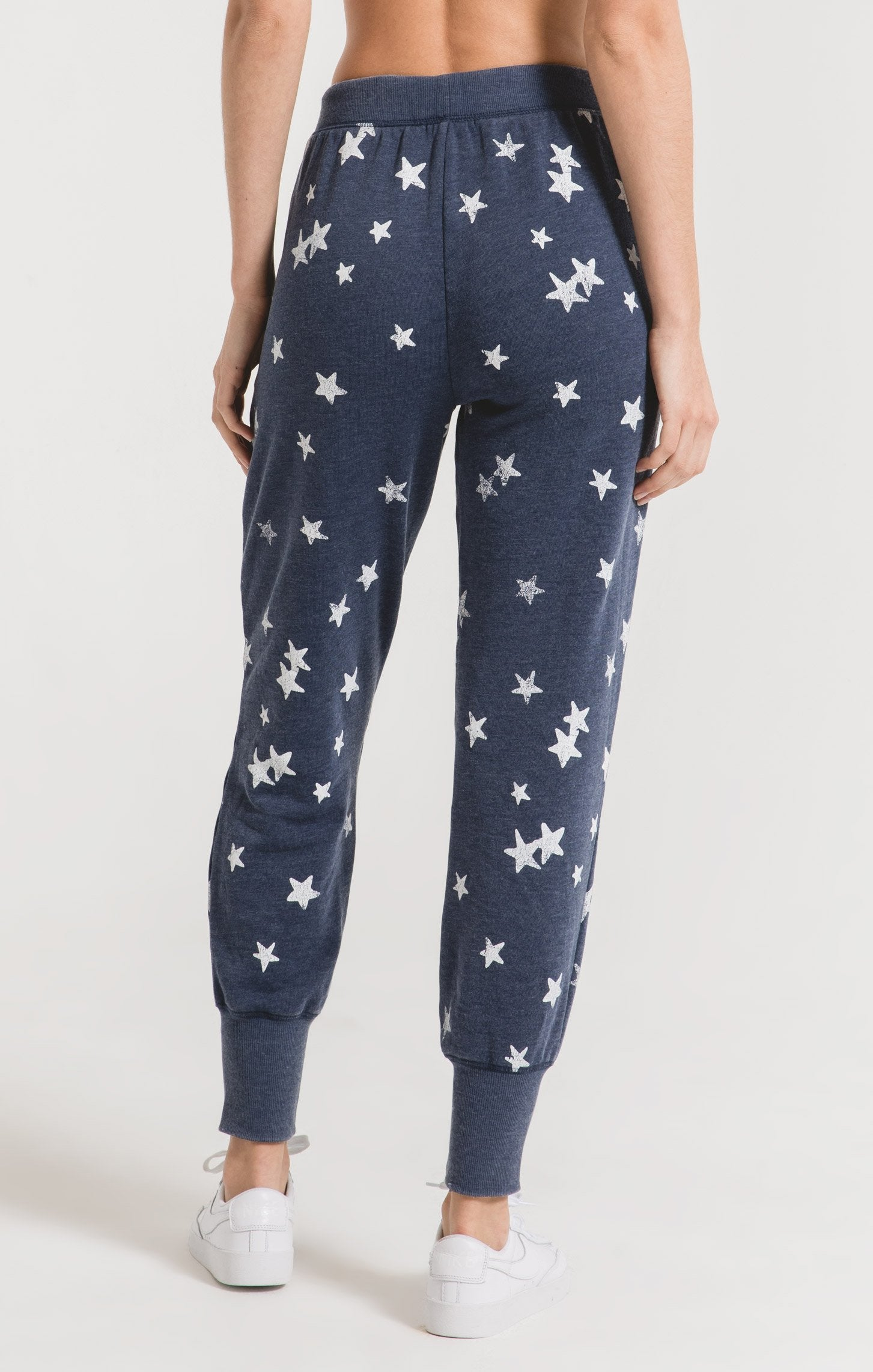 Pants Distressed Star Jogger Black Iris Combo
