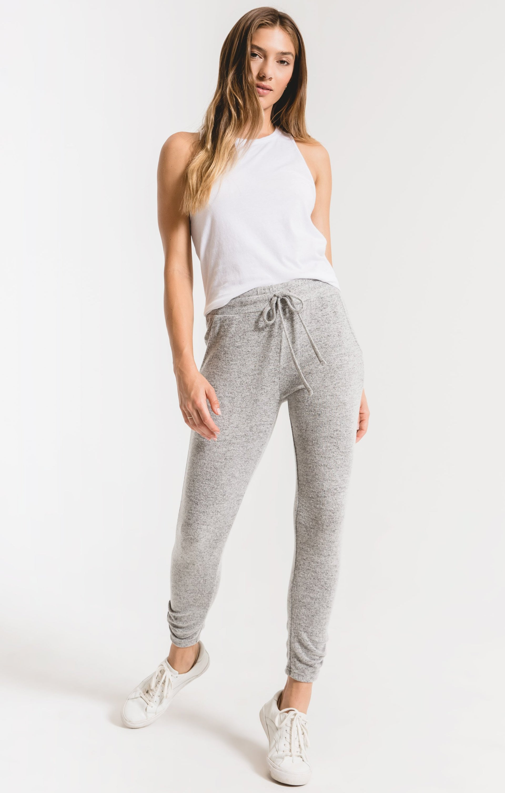 Pants Marled Ankle Pant Heather Grey