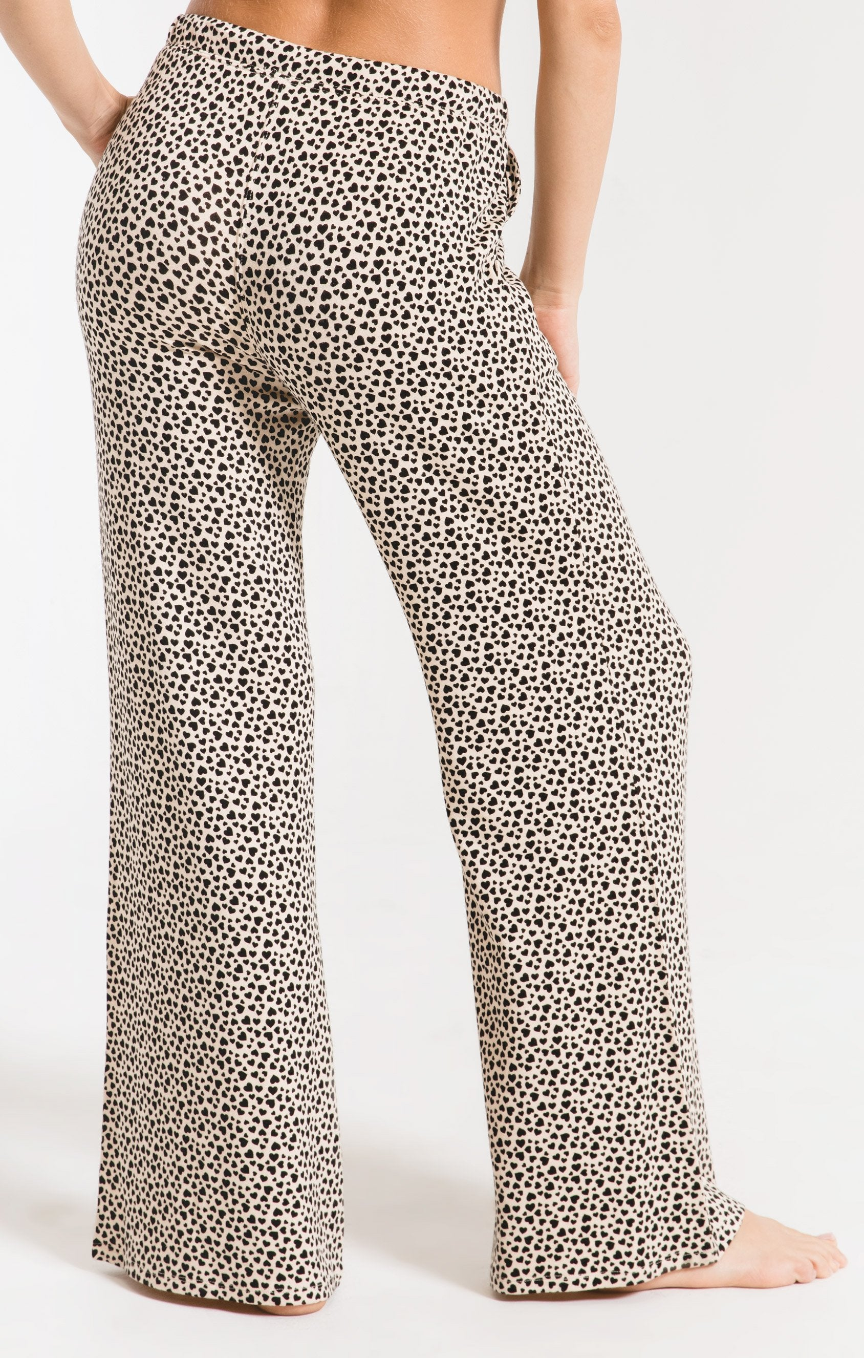 Pants Mini Heart Wideleg Pant Light Beige