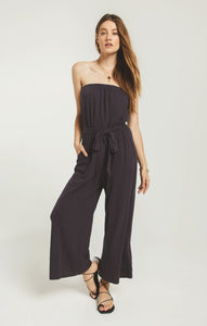 PantsIsla Bandeau Jumpsuit Washed Black