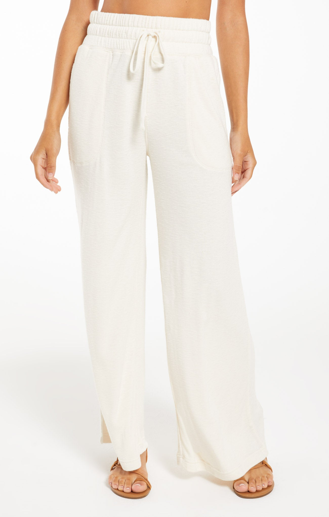 Pants Kim Terry Slub Pant Bone