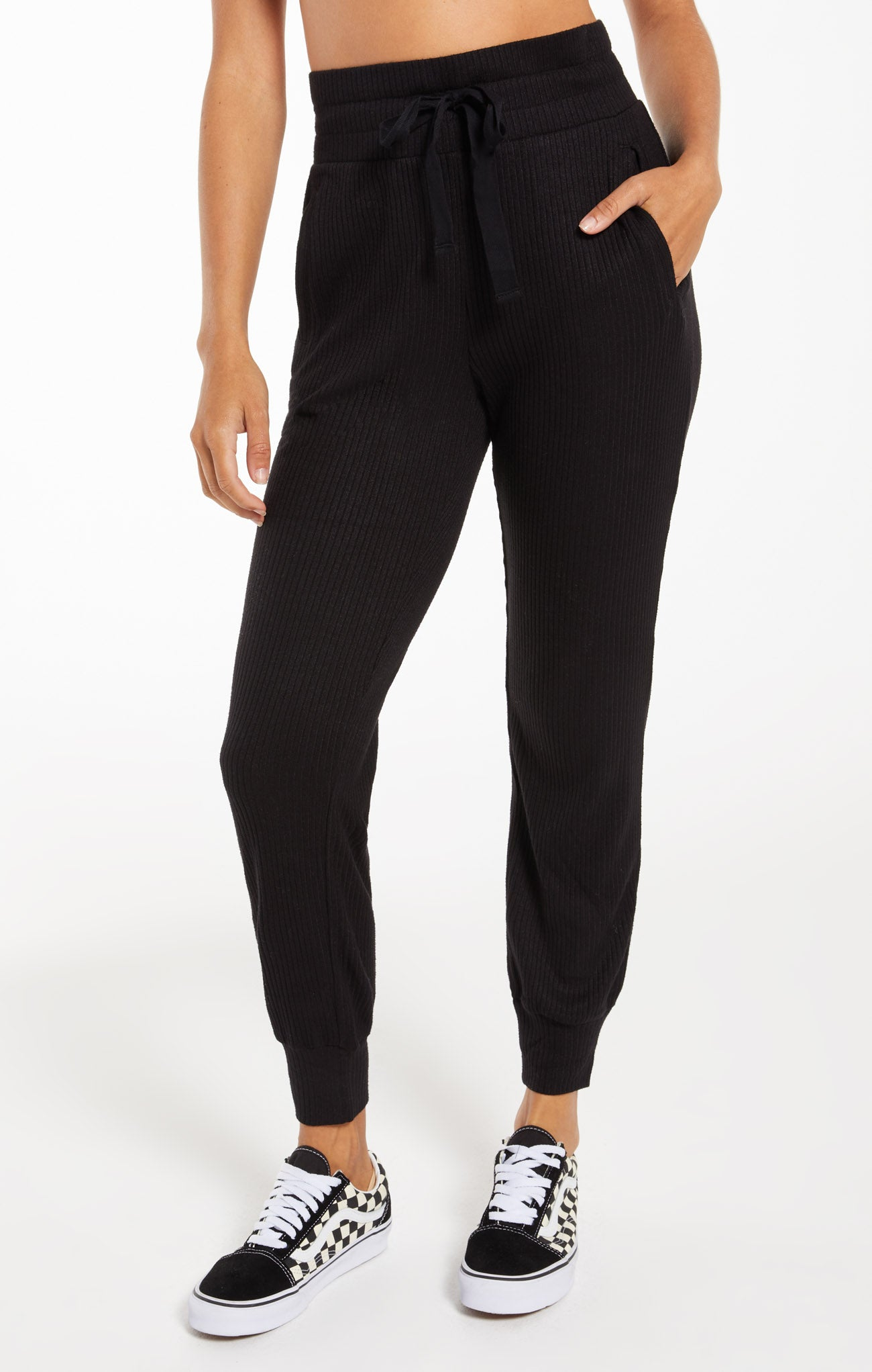 Pants Lyric Rib Jogger Black