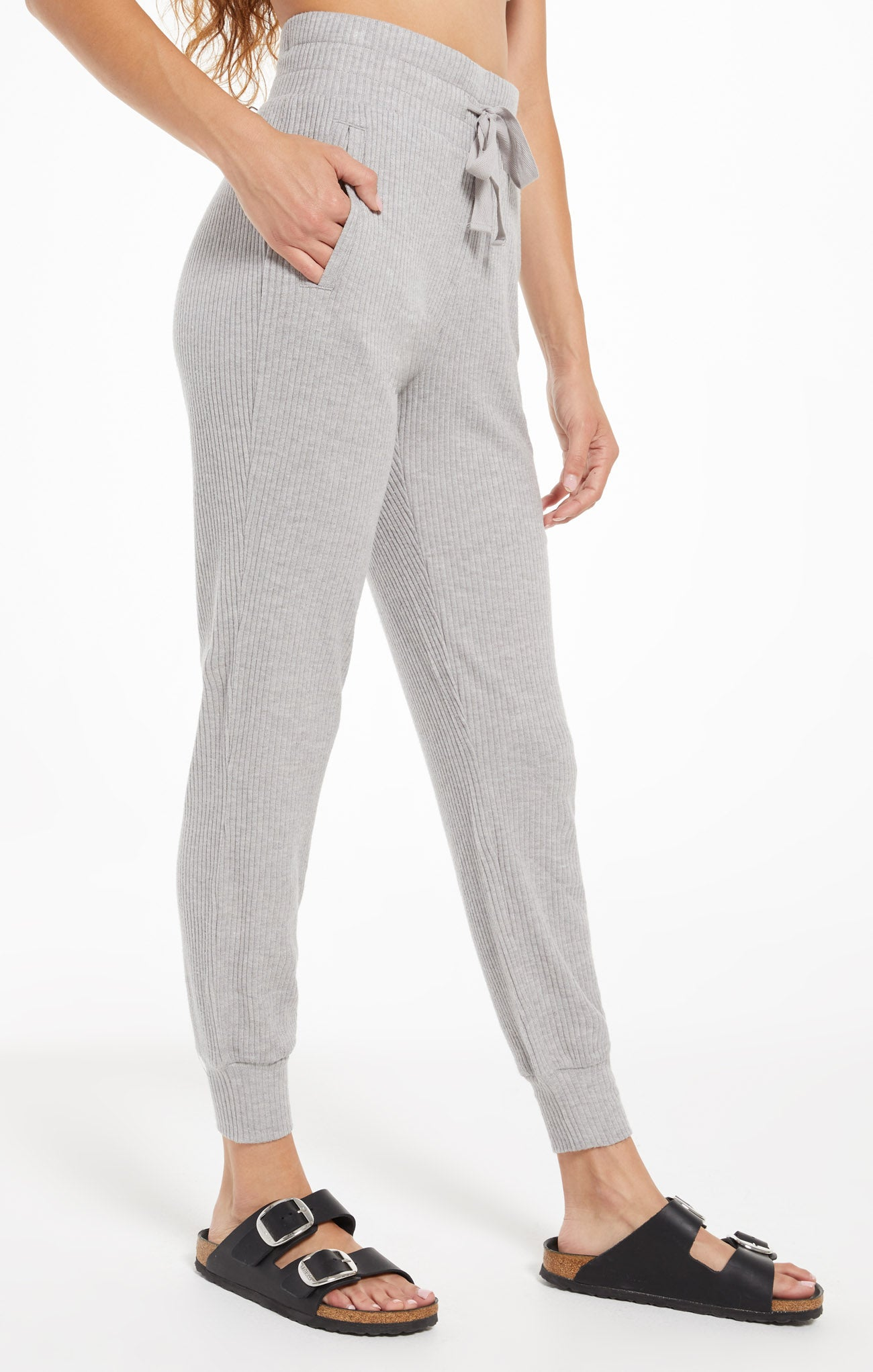 Pants Lyric Rib Jogger Heather Grey
