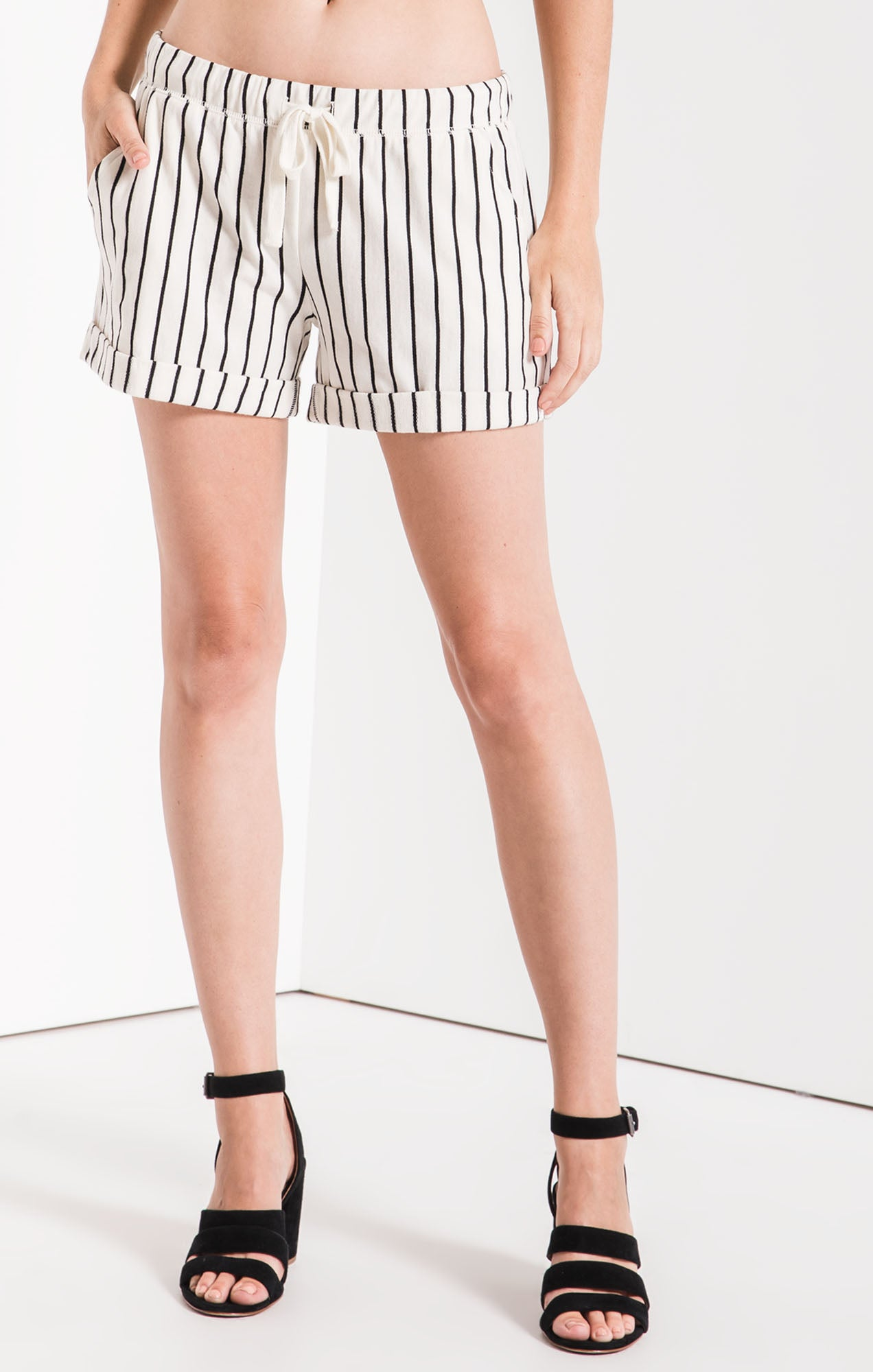 Shorts The Pinstripe Boyfriend Short Pearl