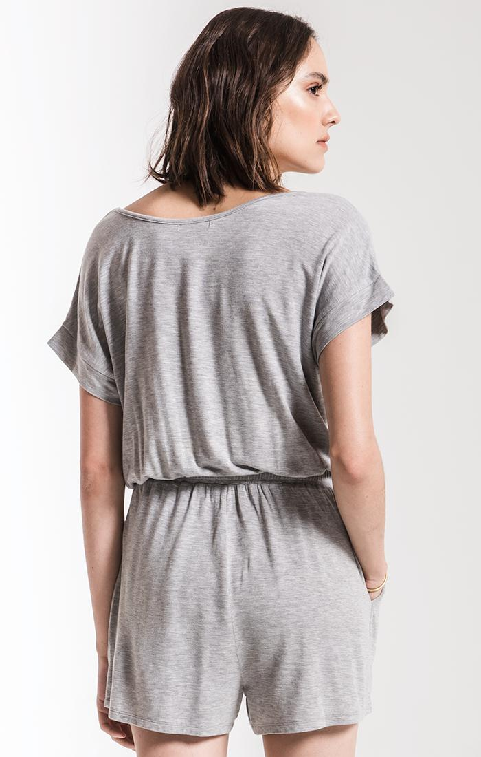 Shorts The Blaire Sleek Jersey Romper Heather Grey