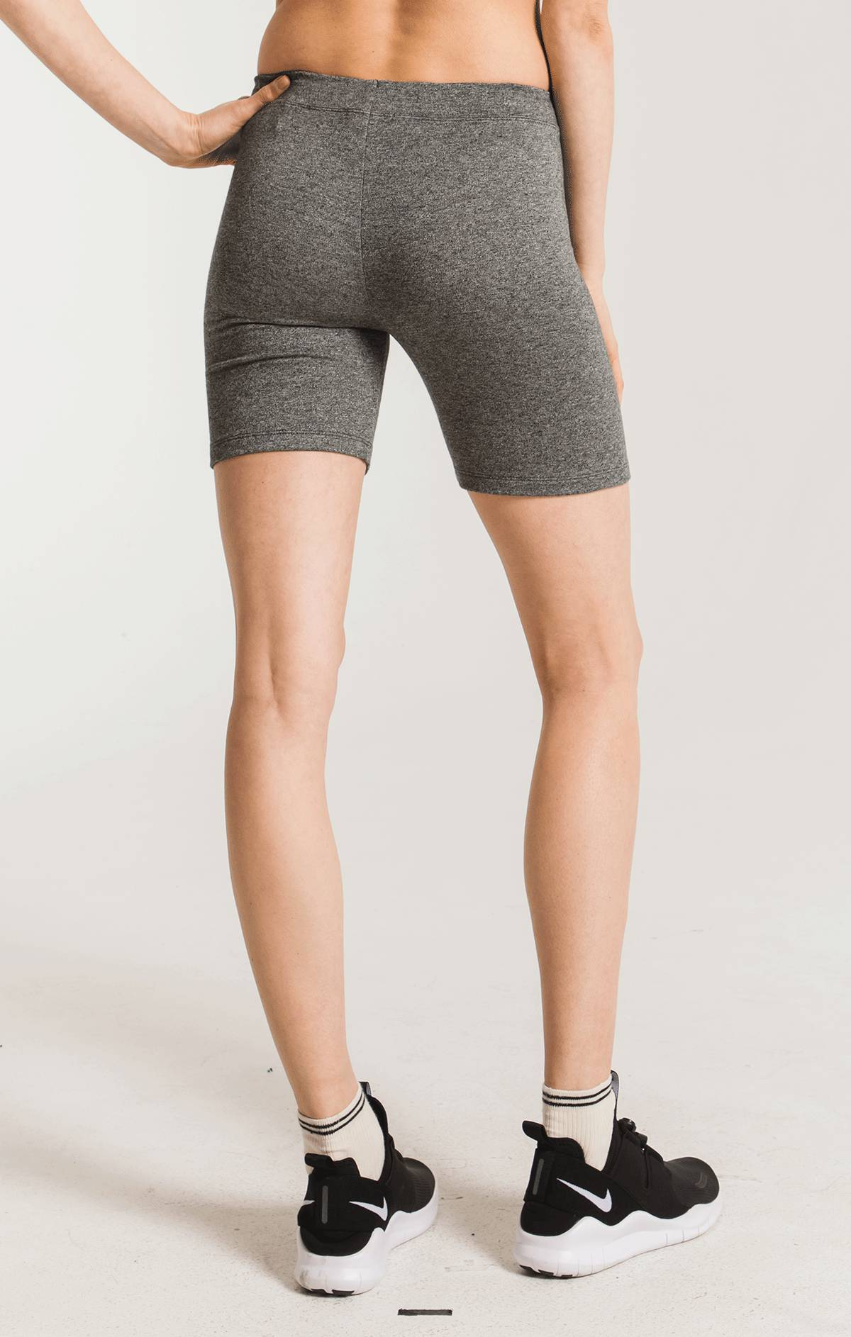Shorts The Mod Biker Short Heather Grey