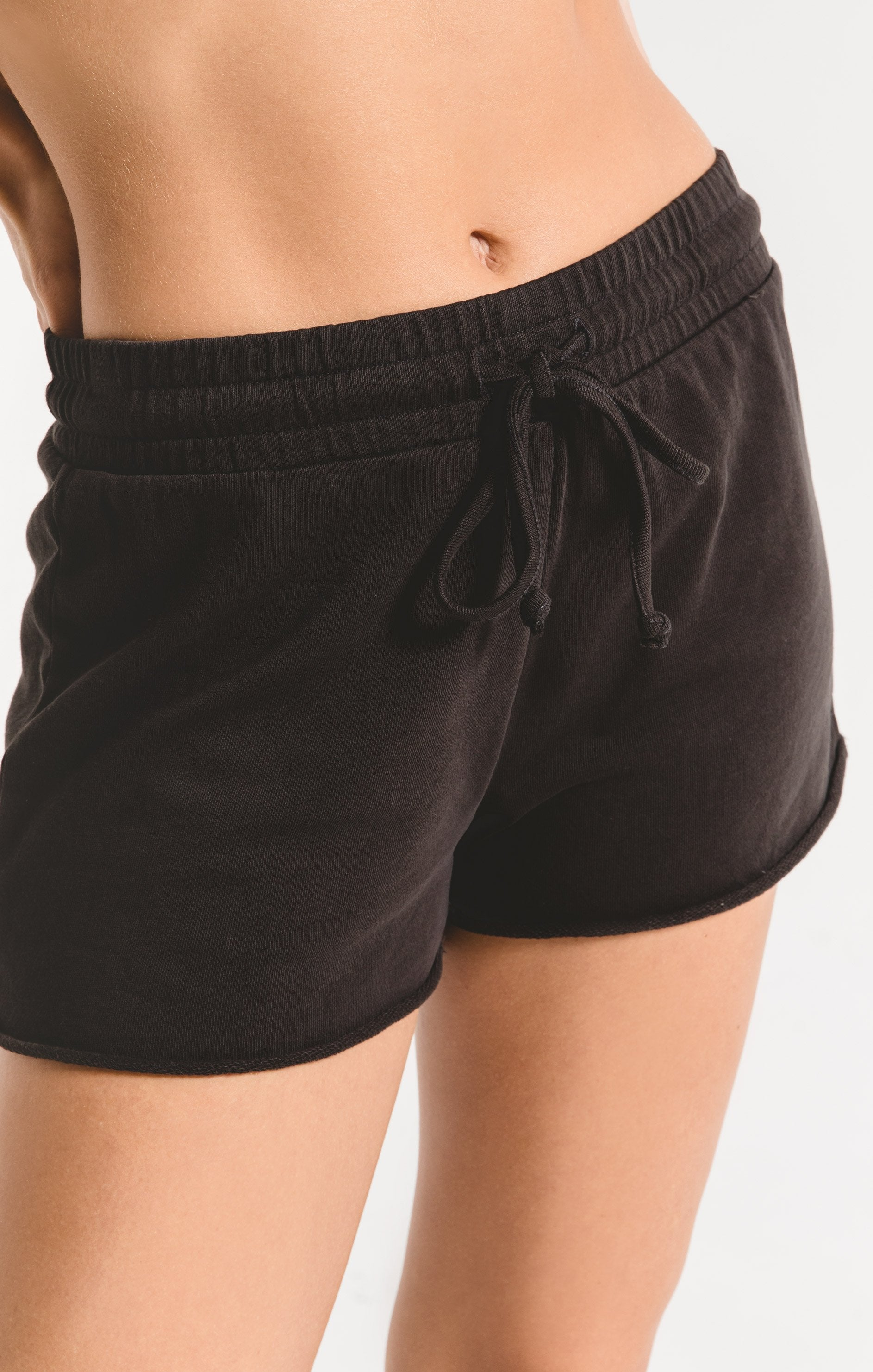 Shorts Cotton French Terry Short Washed Black