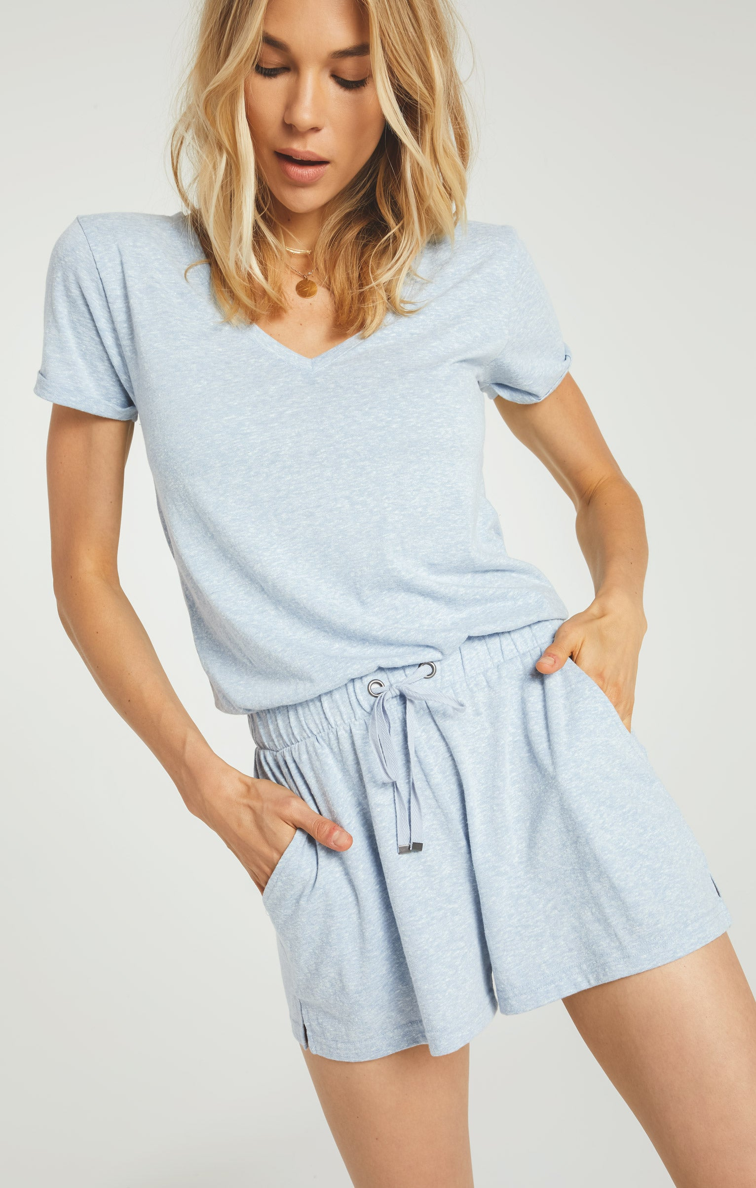 Shorts Pia Triblend Romper Forever Blue