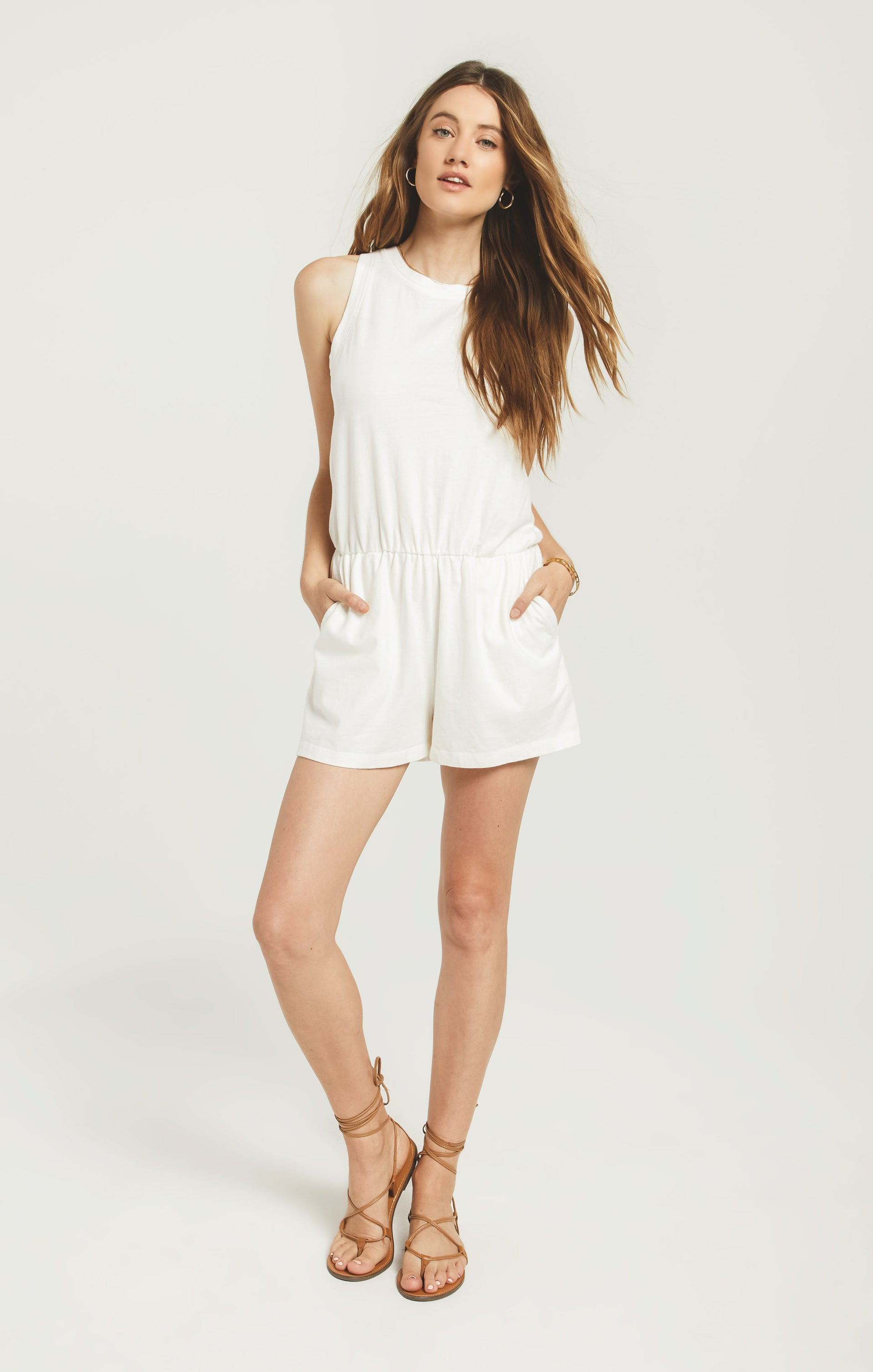Shorts Adira Cotton Romper Desert White