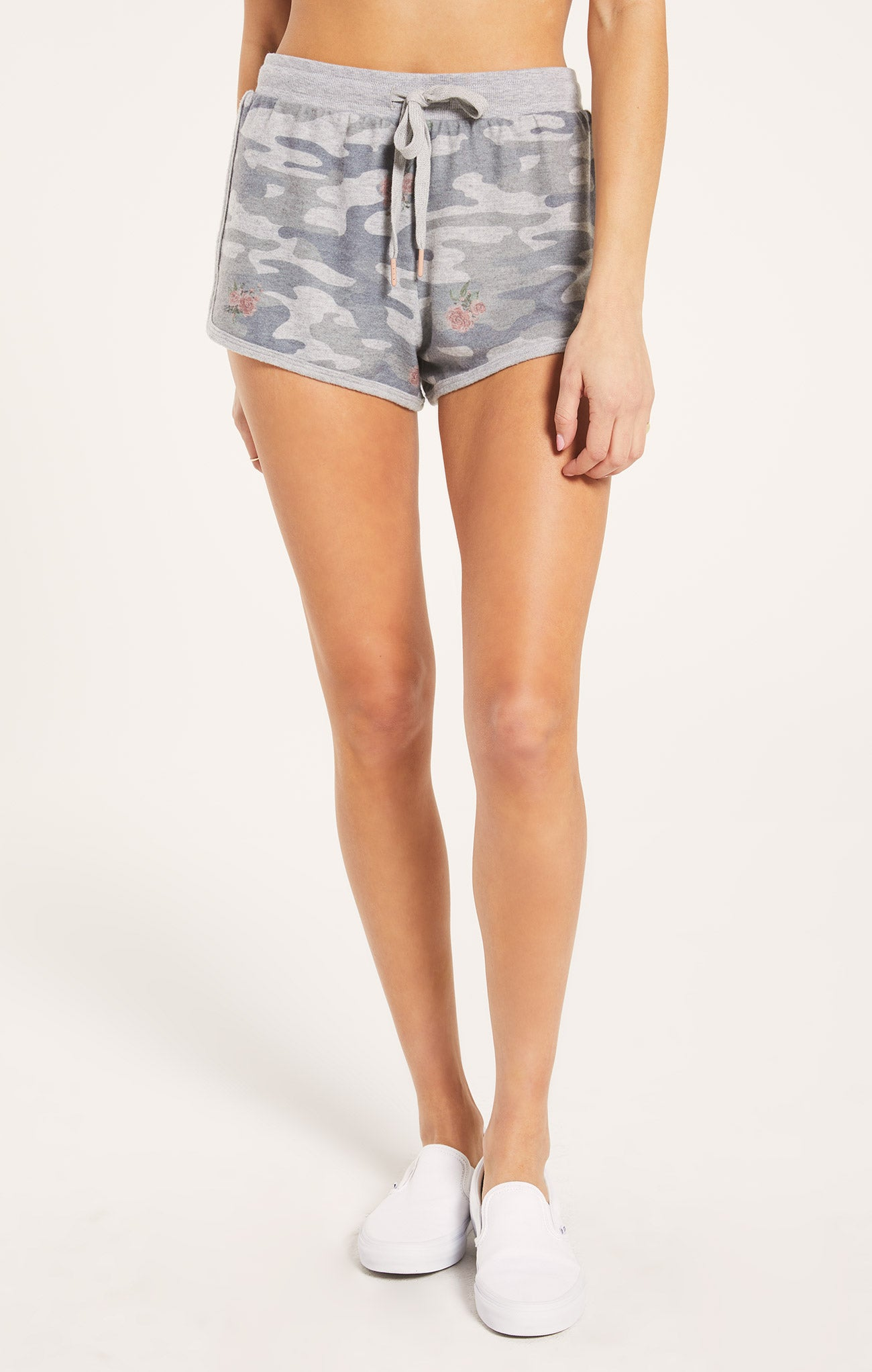 Shorts Mia Rose Camo Short Heather Grey