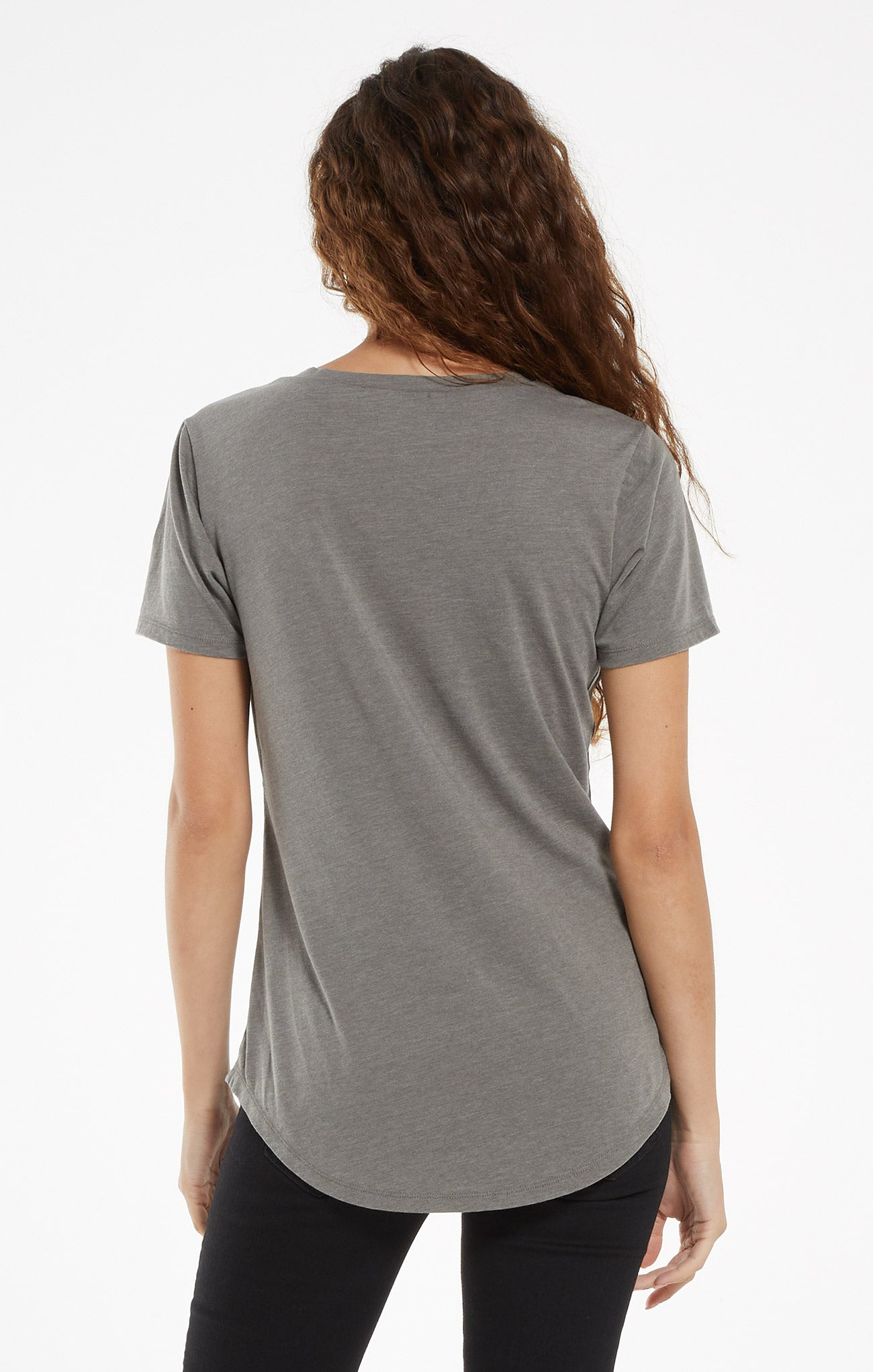 Tops Pocket Tee Ash Green