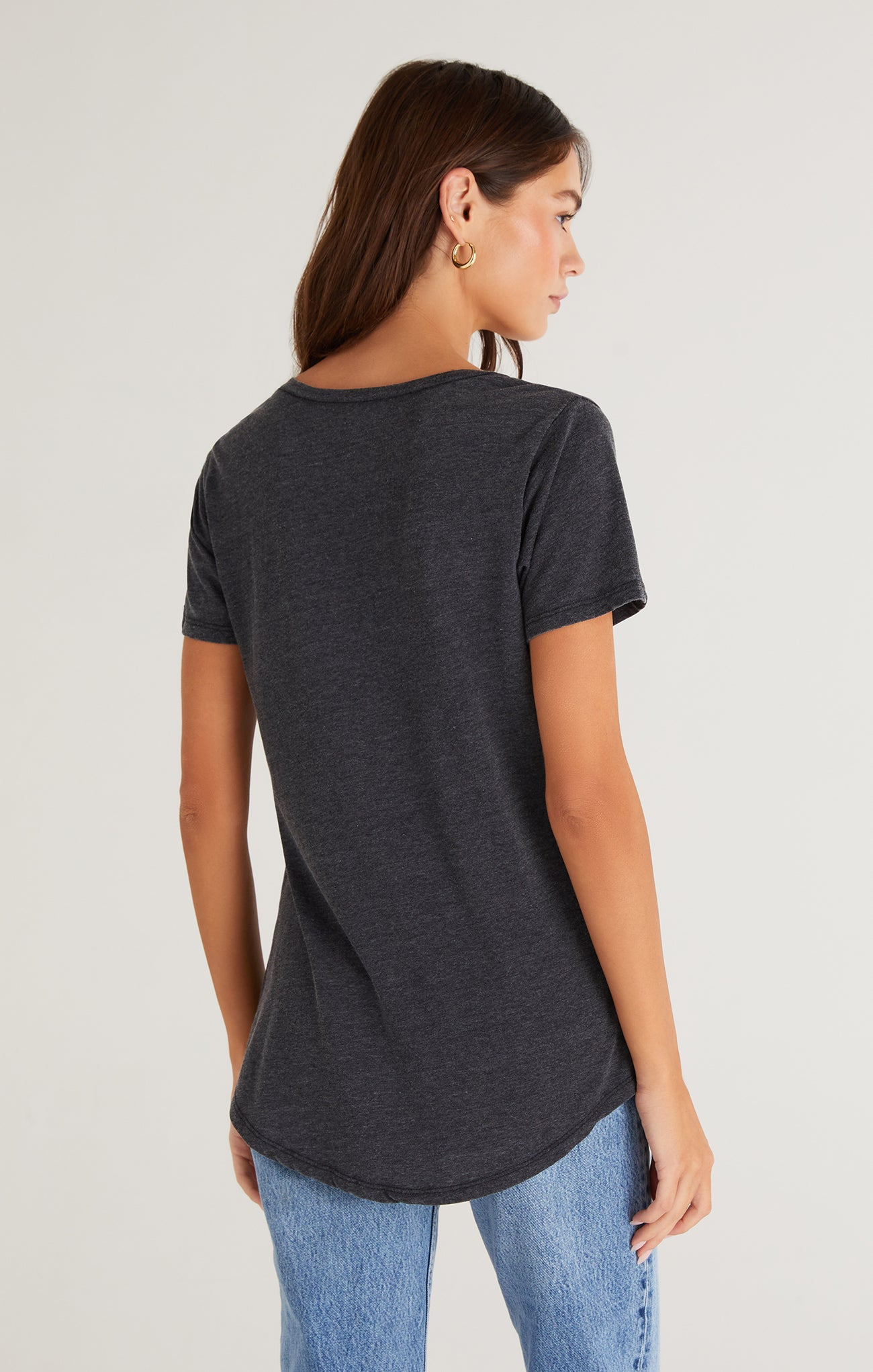 Tops Pocket Tee Black