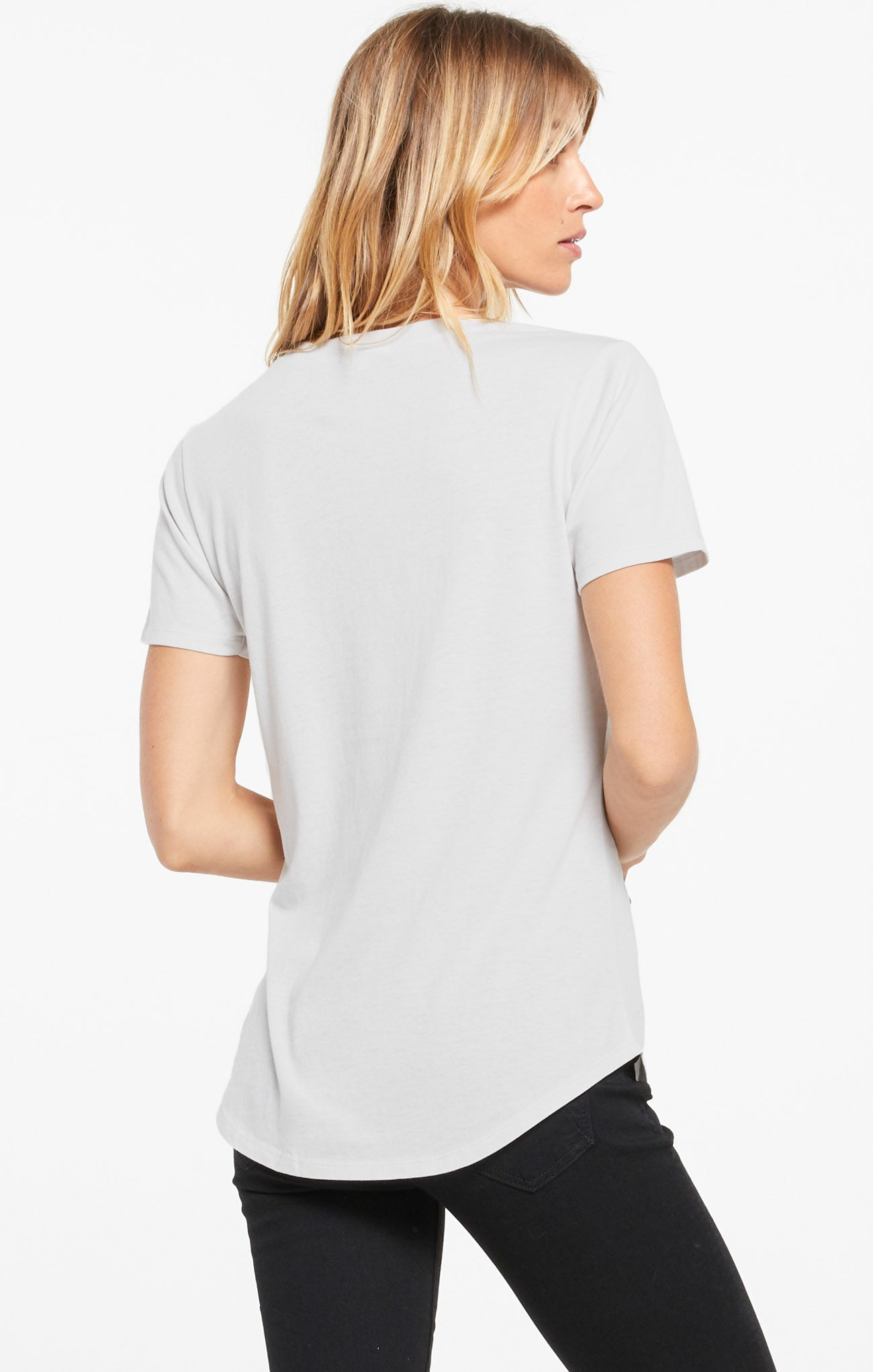 Tops Pocket Tee Dove Grey