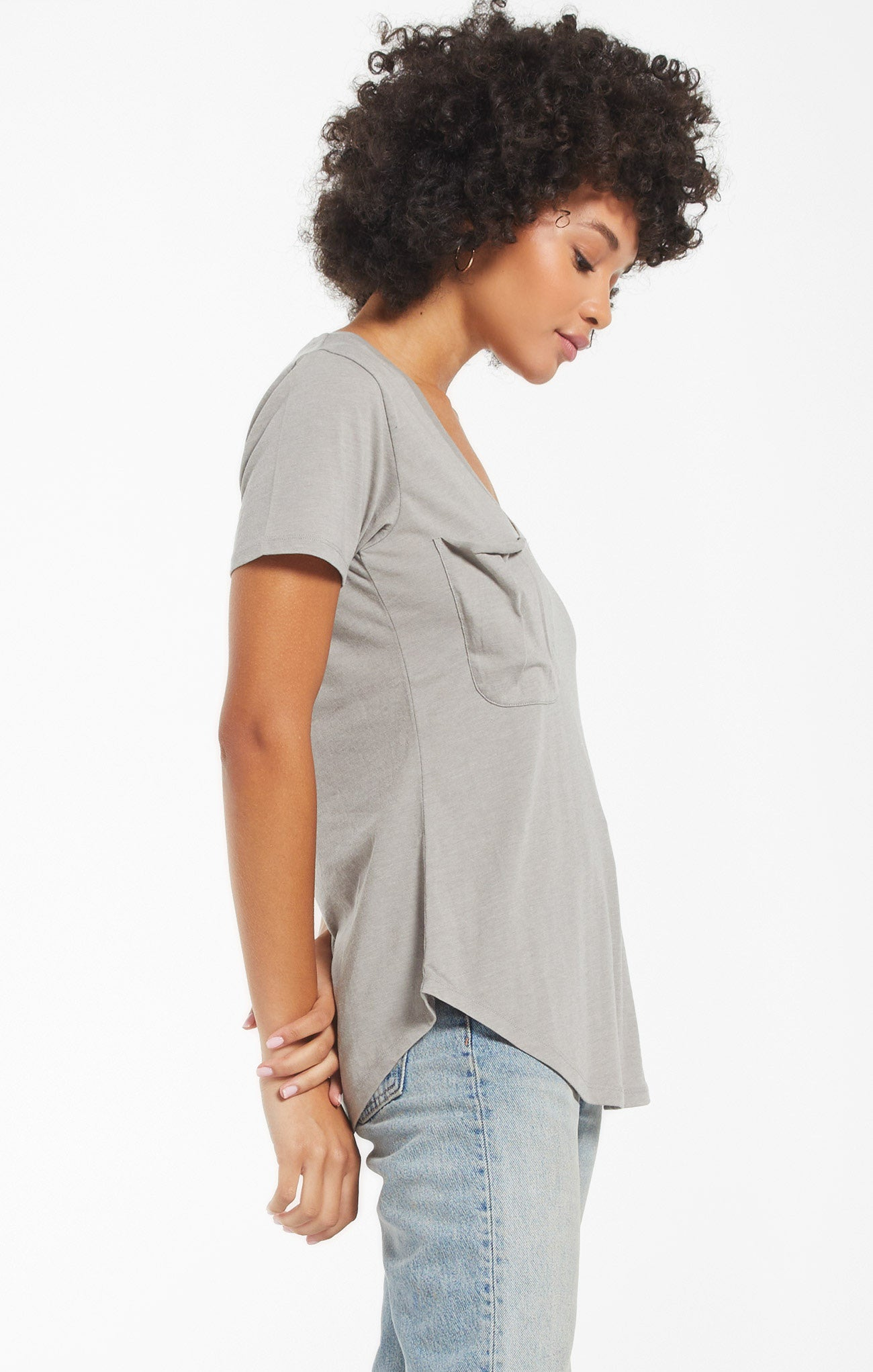 Tops Pocket Tee Dusty Sage