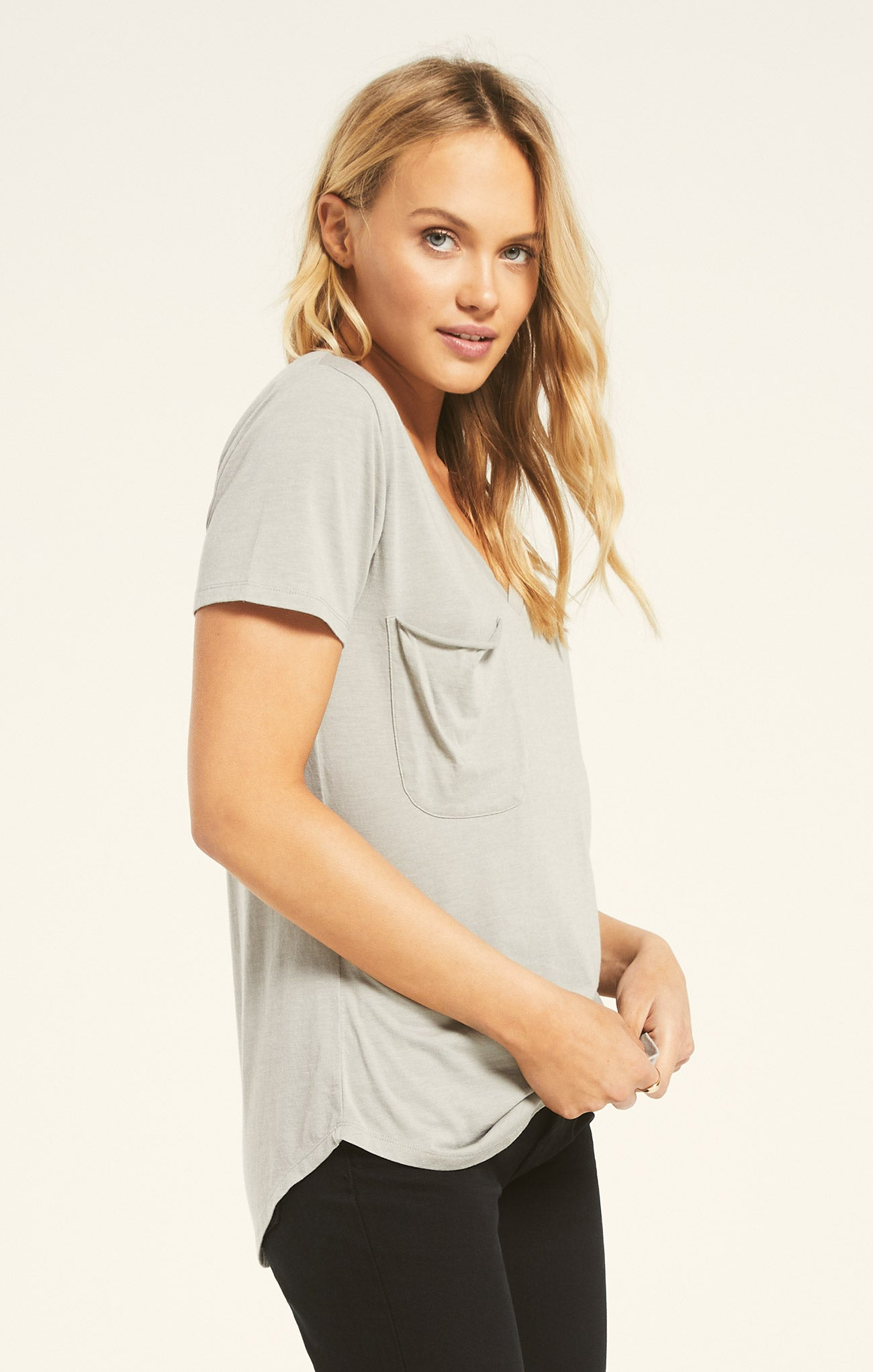 Tops Pocket Tee Sage Mist