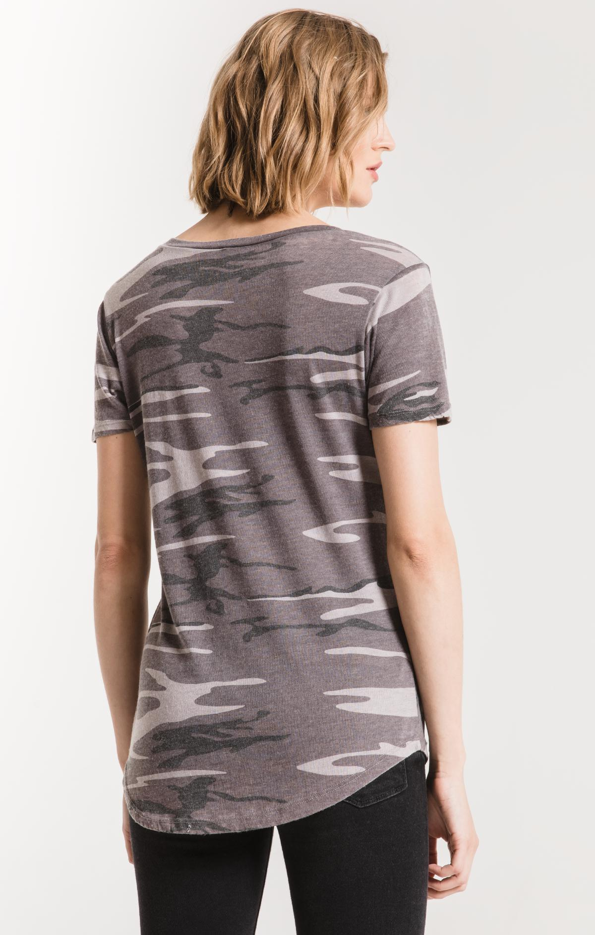 Tops Camo Pocket Tee Camo Black