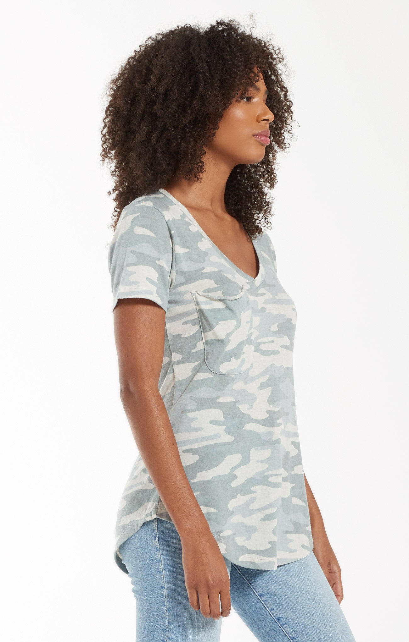 Tops Camo Pocket Tee Camo Dusty Sage