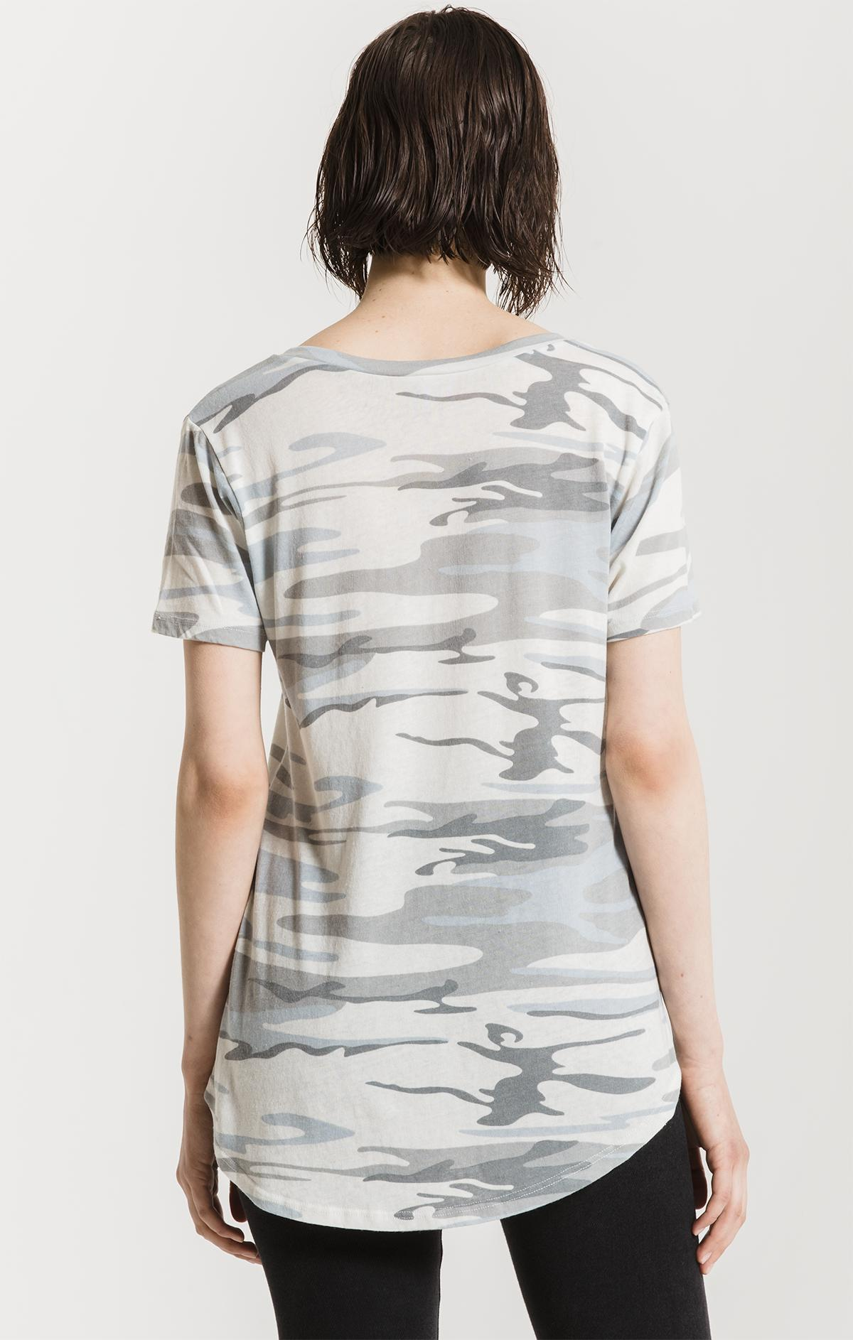Tops Camo Pocket Tee Camo White