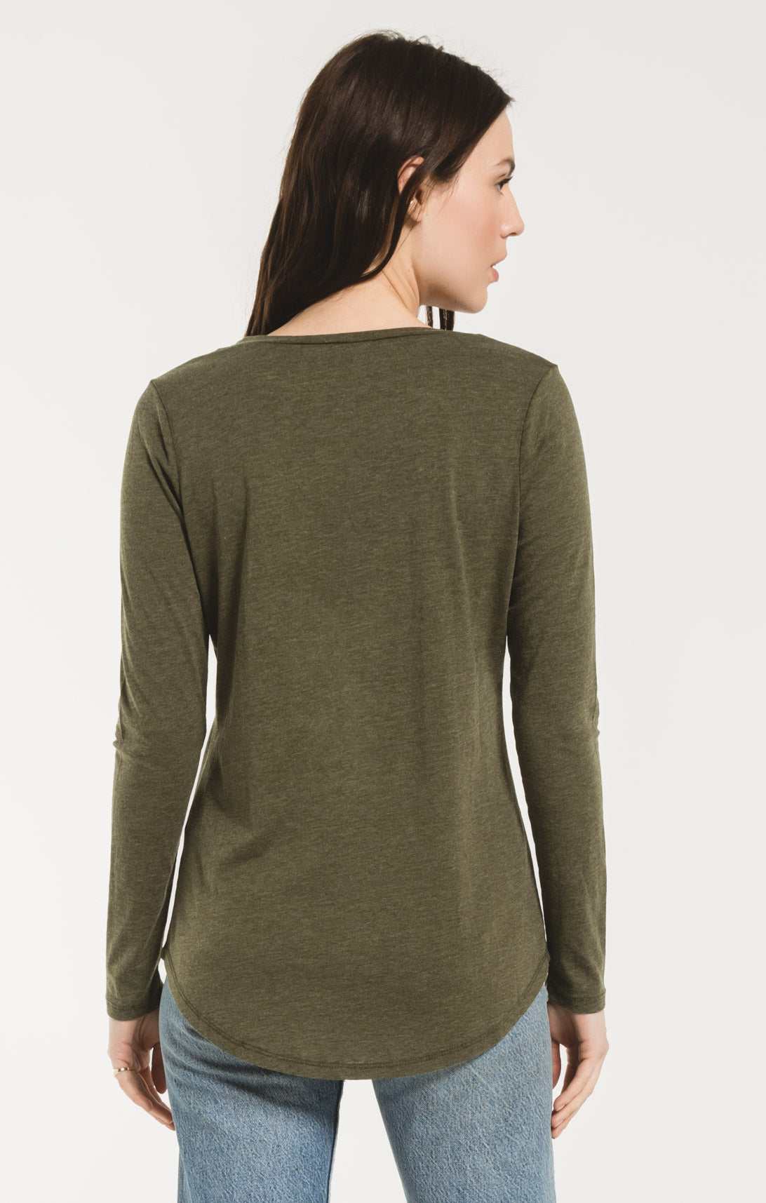 Tops Long Sleeve Pocket Tee Rosin