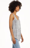 Tops Camo Pocket Racer Tank Camo Heather Grey