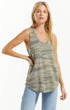 Tops Camo Pocket Racer Tank Camo Light Sage