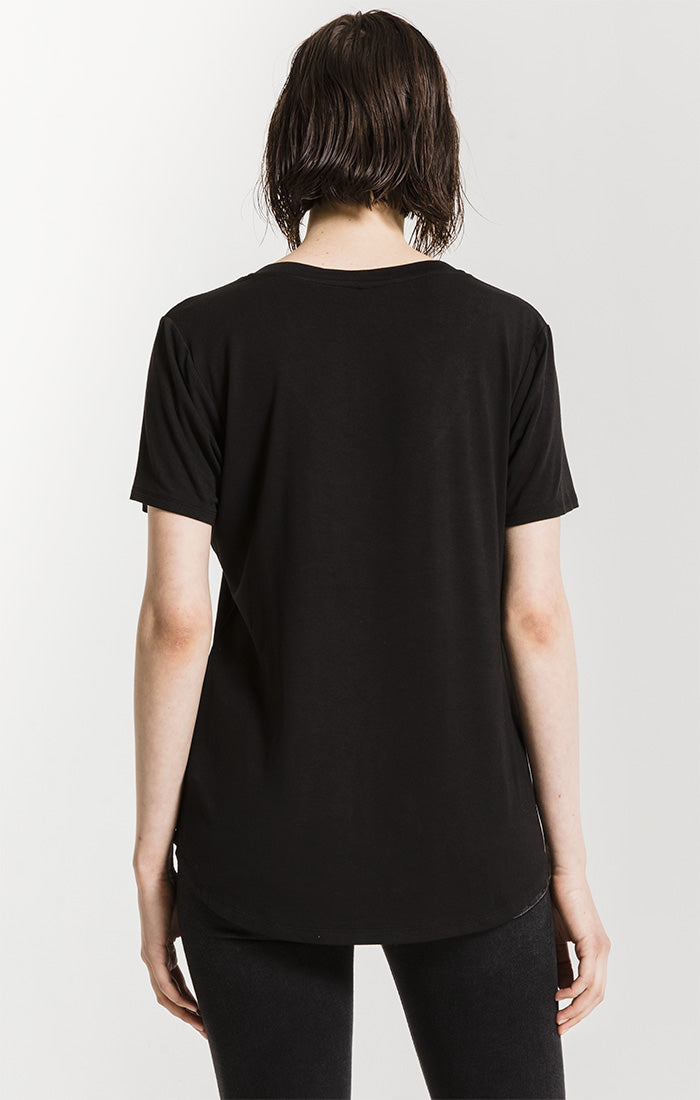 Tops The Sleek Jersey Pocket Tee Black