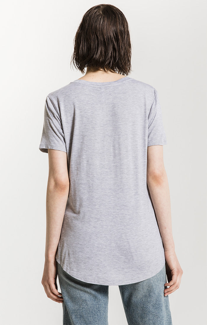 Tops Sleek Jersey Pocket Tee Heather Grey