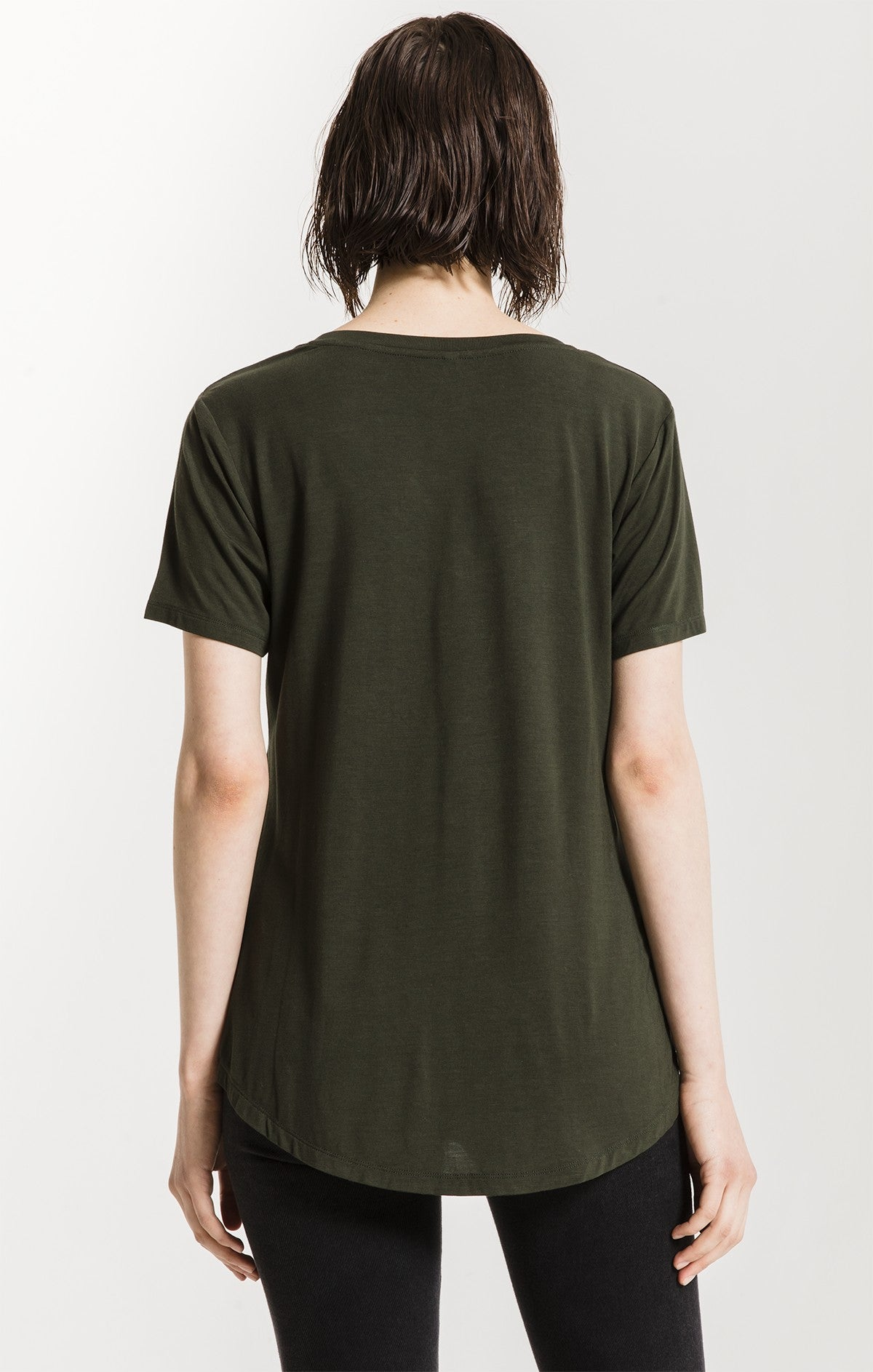 Tops The Sleek Jersey Pocket Tee Rosin
