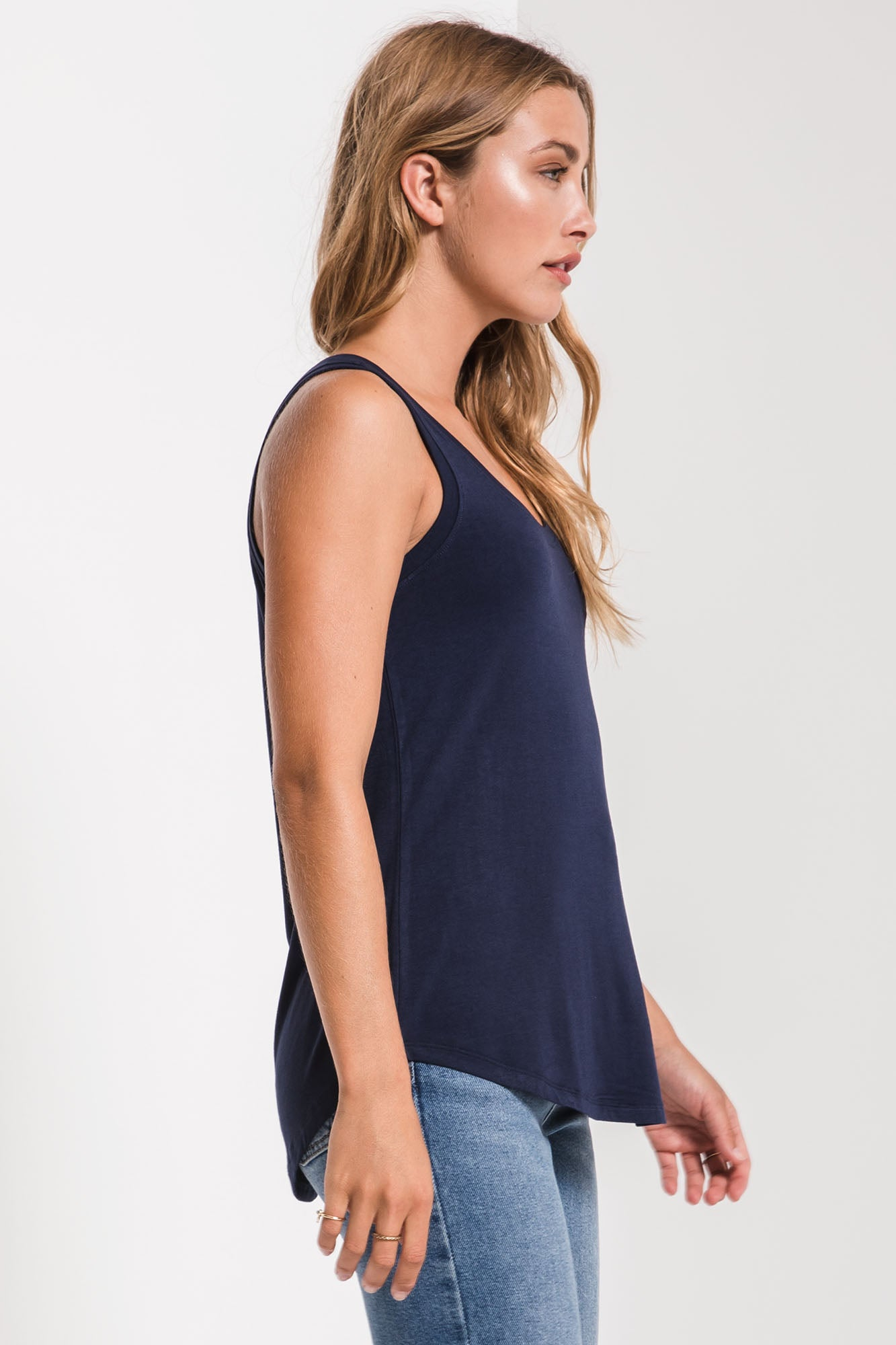 Tops The Sleek Jersey Tank Black Iris