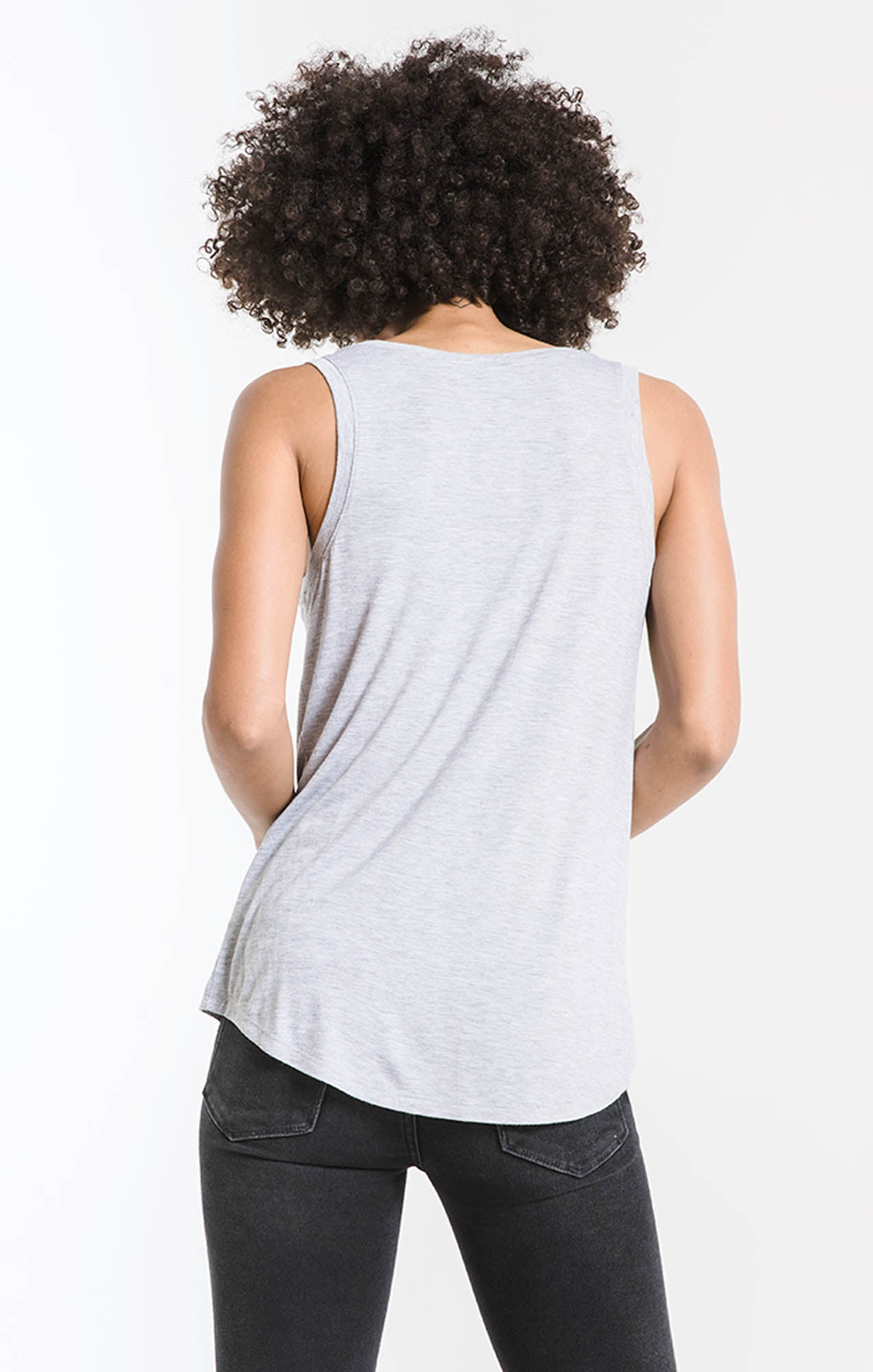 Tops The Sleek Jersey Tank Heather Grey