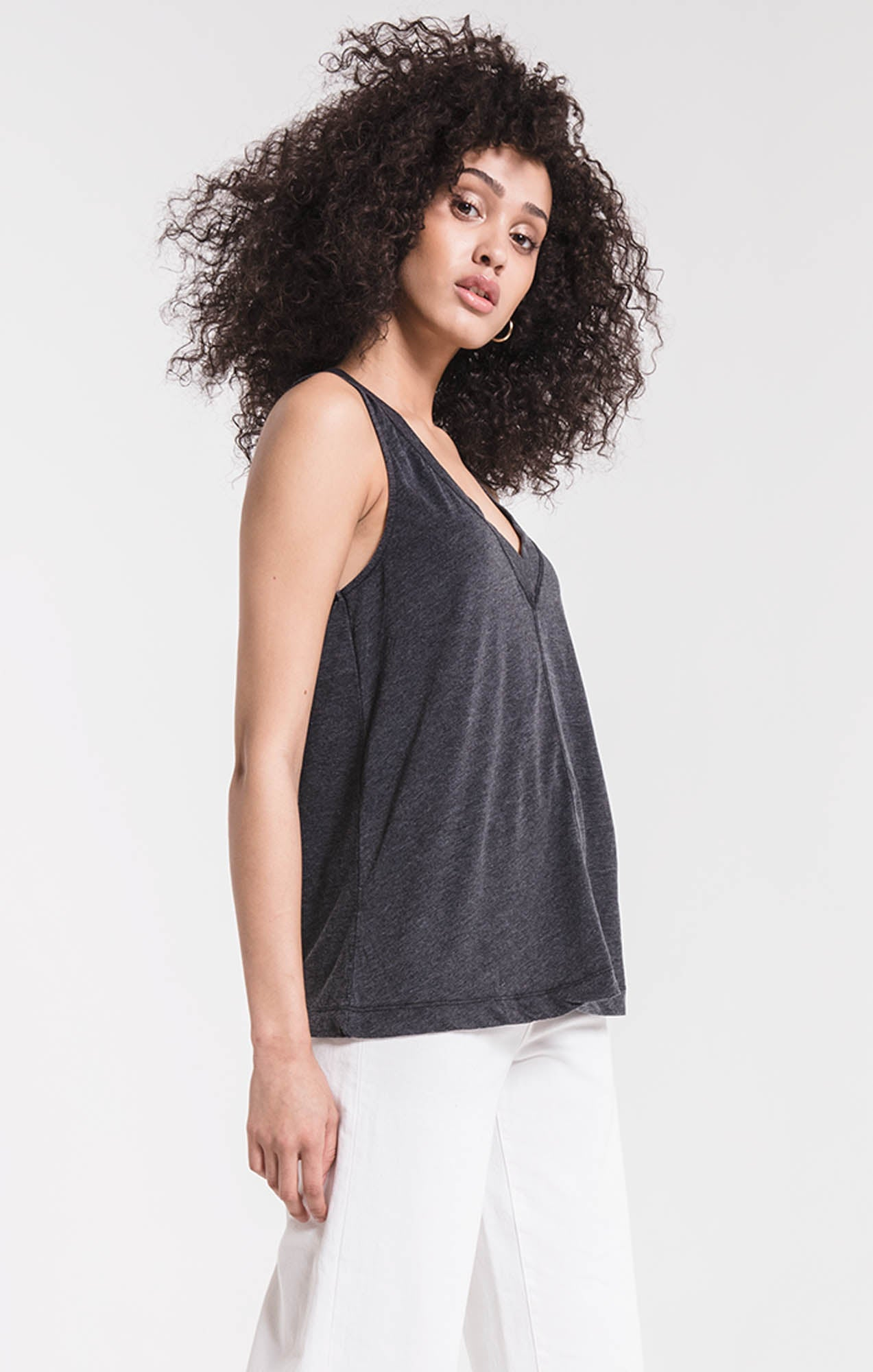 Tops The City Racerback Tank Black