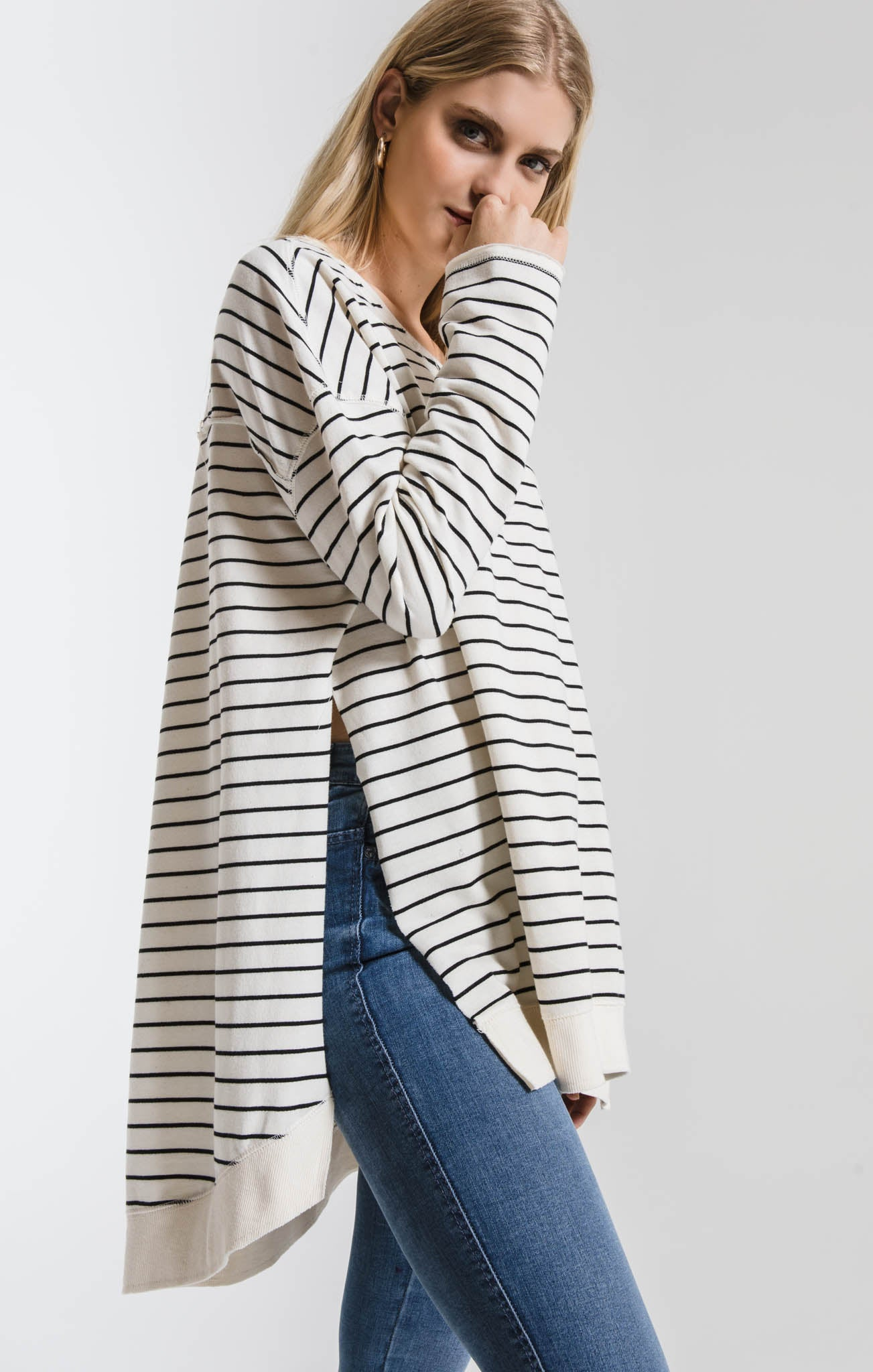 Tops Stripe Weekender Ivory/Black