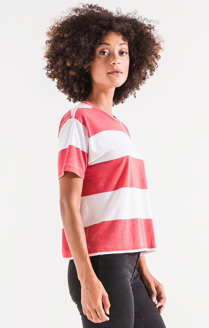 Tops The Venice Crew Tee Scarlet Red