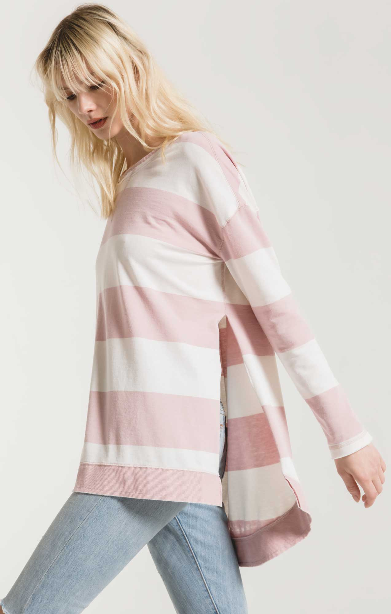 Jackets The Rugby Stripe Weekender Pale Blush/Desert White