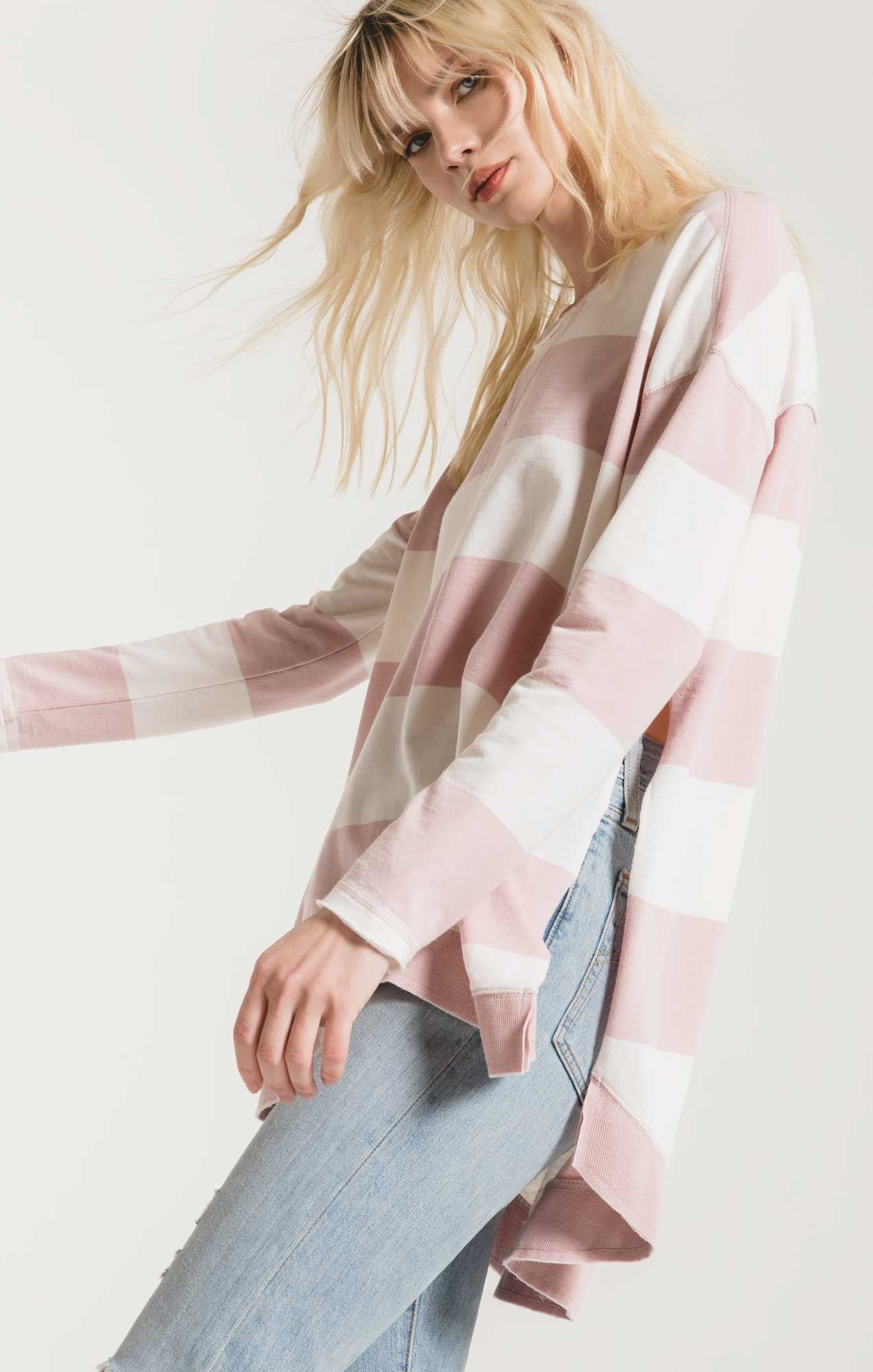 Jackets Rugby Stripe Weekender Pale Blush/Desert White