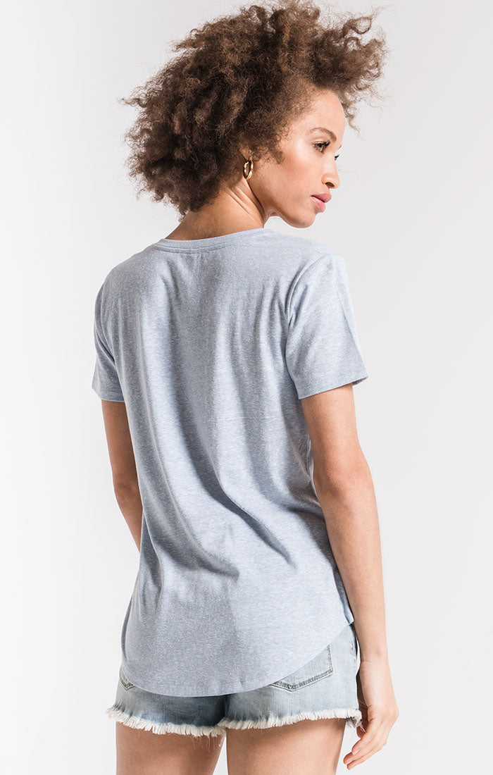 Tops The Triblend Pocket Tee Allure Blue