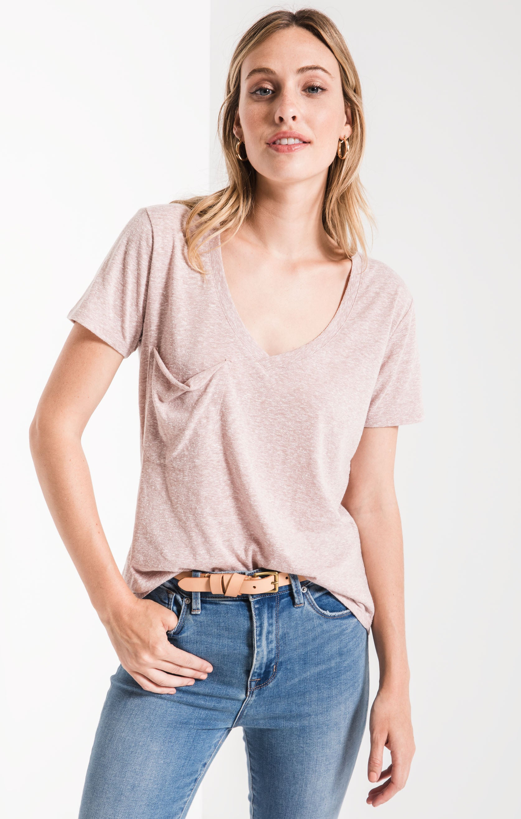 Tops The Triblend Pocket Tee Deauville Mauve