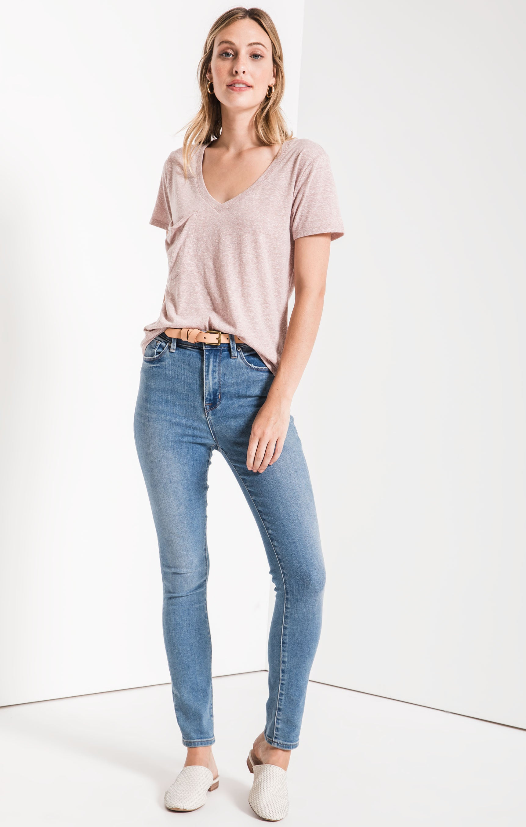 Tops Triblend Pocket Tee Deauville Mauve
