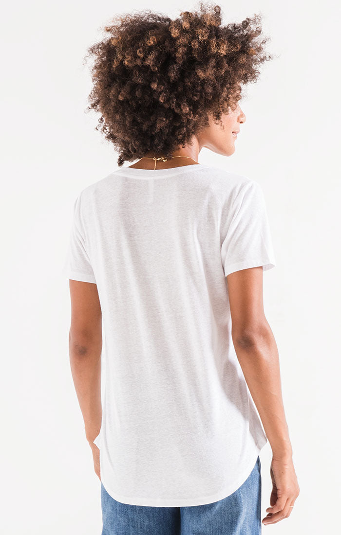 Tops Triblend Pocket Tee White