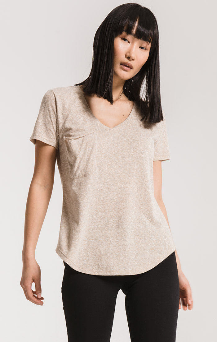 Tops The Triblend Pocket Tee Simply Taupe