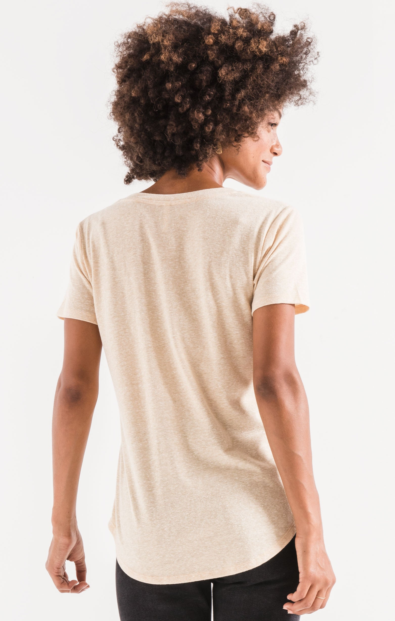 Tops Triblend Pocket Tee Yellow Cream