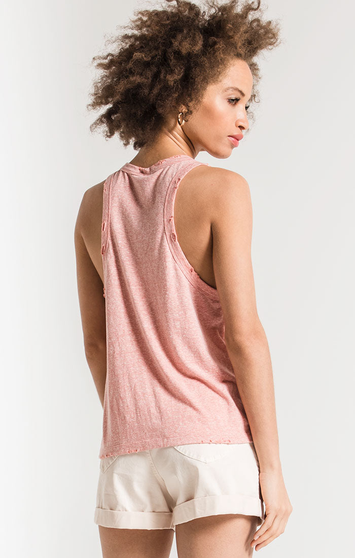 Tops The Triblend Racer Tank Coral Haze